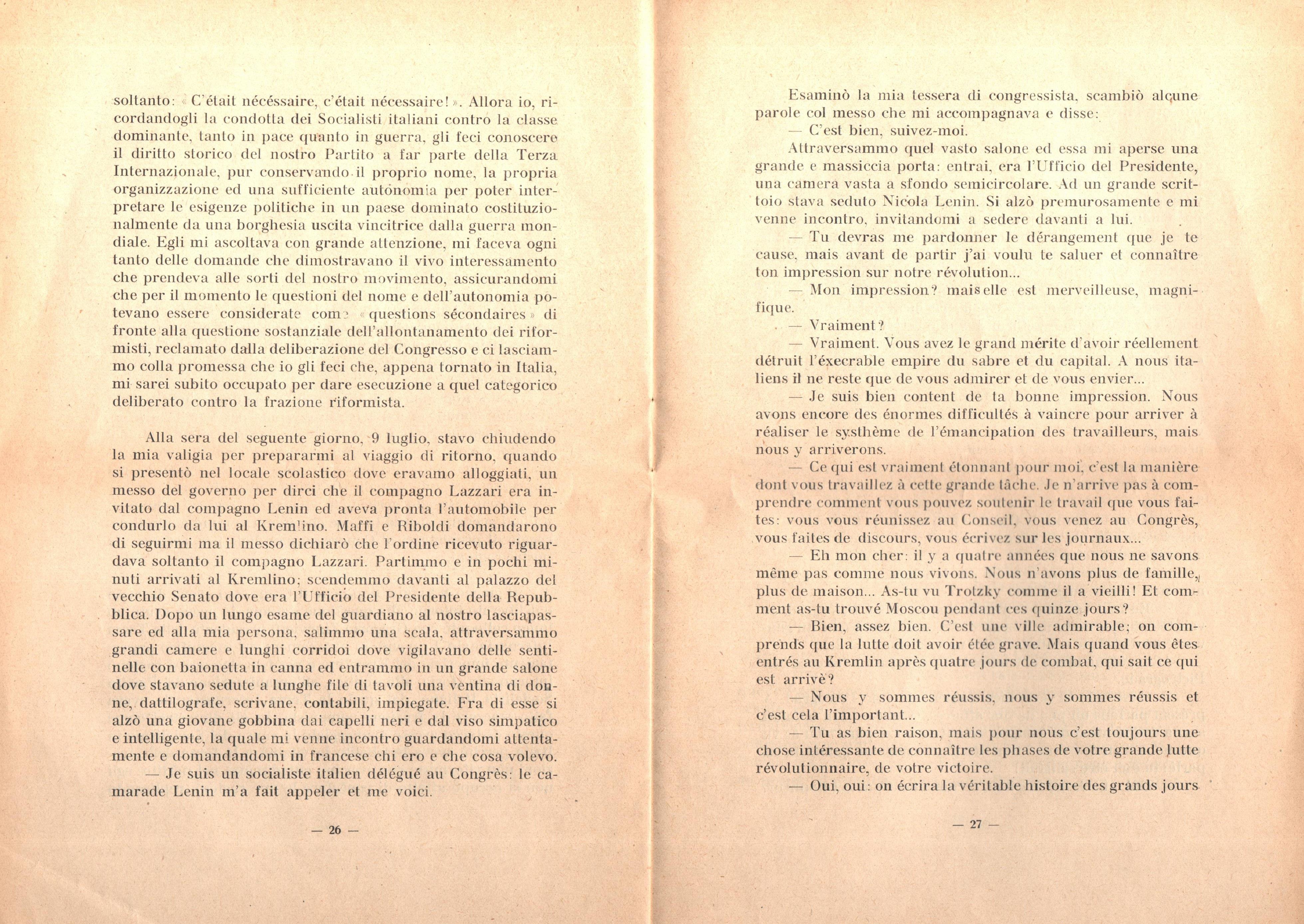 C. Lazzari, Il mio ultimo colloquio con Nicola Lenin - pag. 15