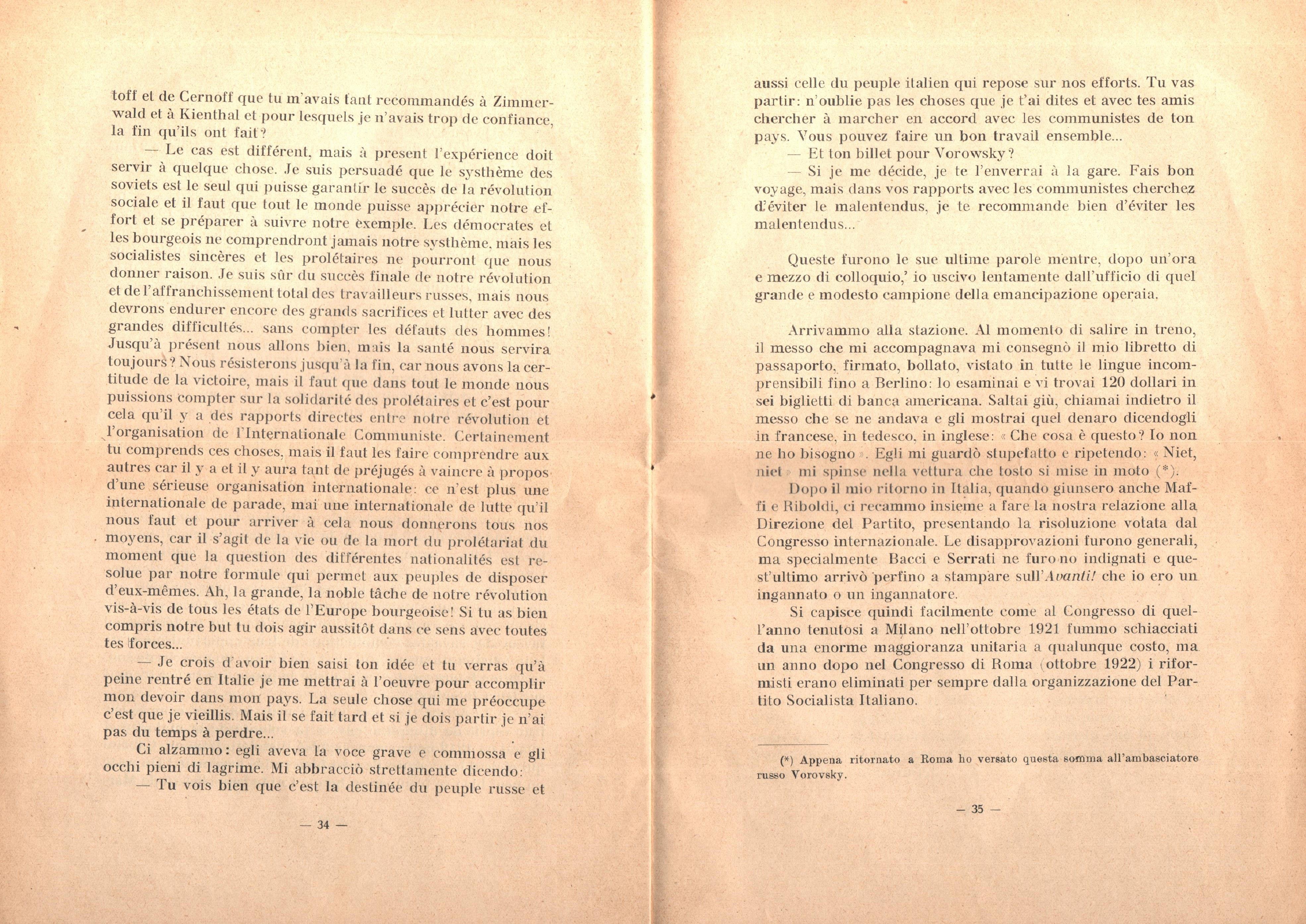 C. Lazzari, Il mio ultimo colloquio con Nicola Lenin - pag. 19