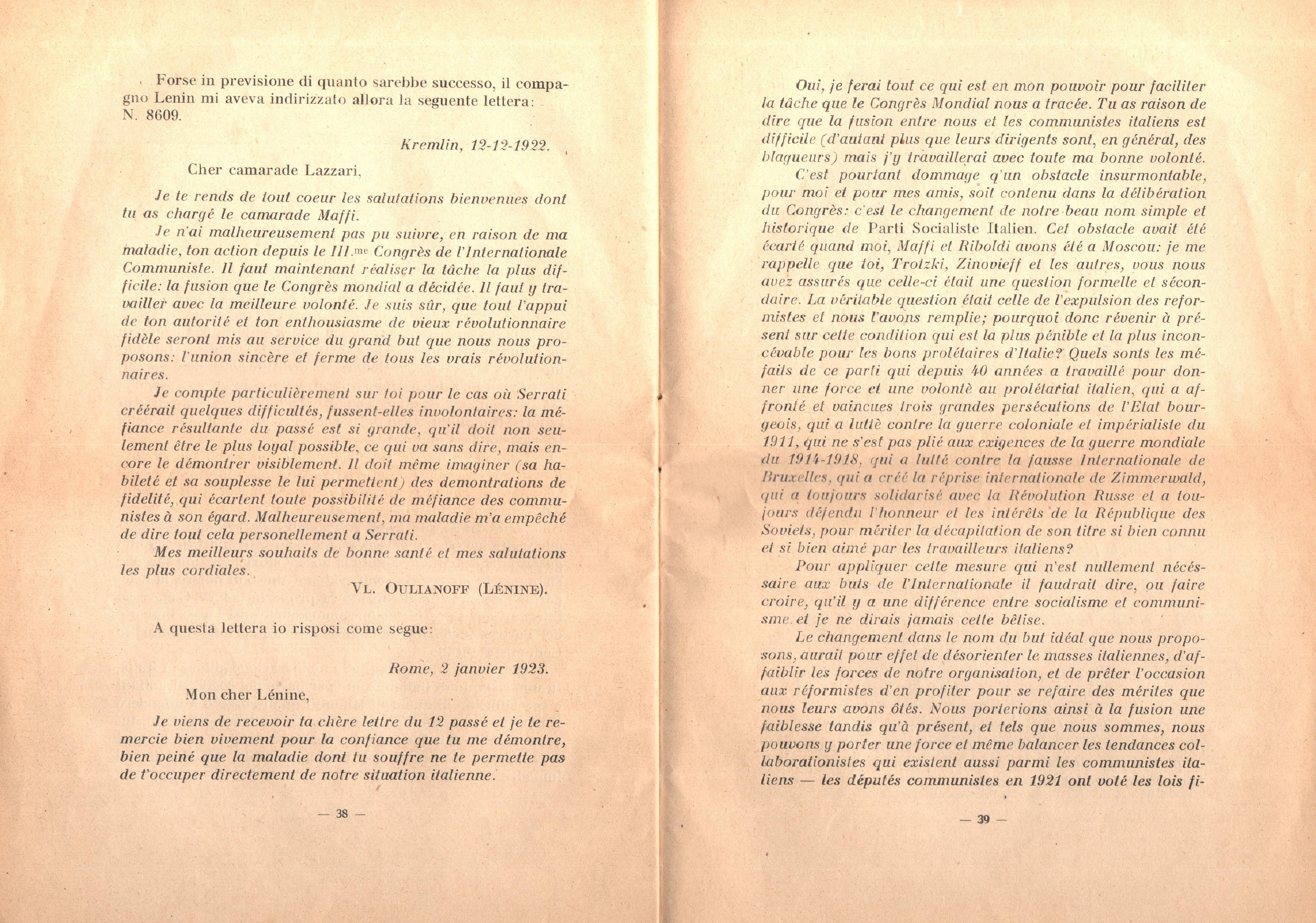 C. Lazzari, Il mio ultimo colloquio con Nicola Lenin - pag. 21