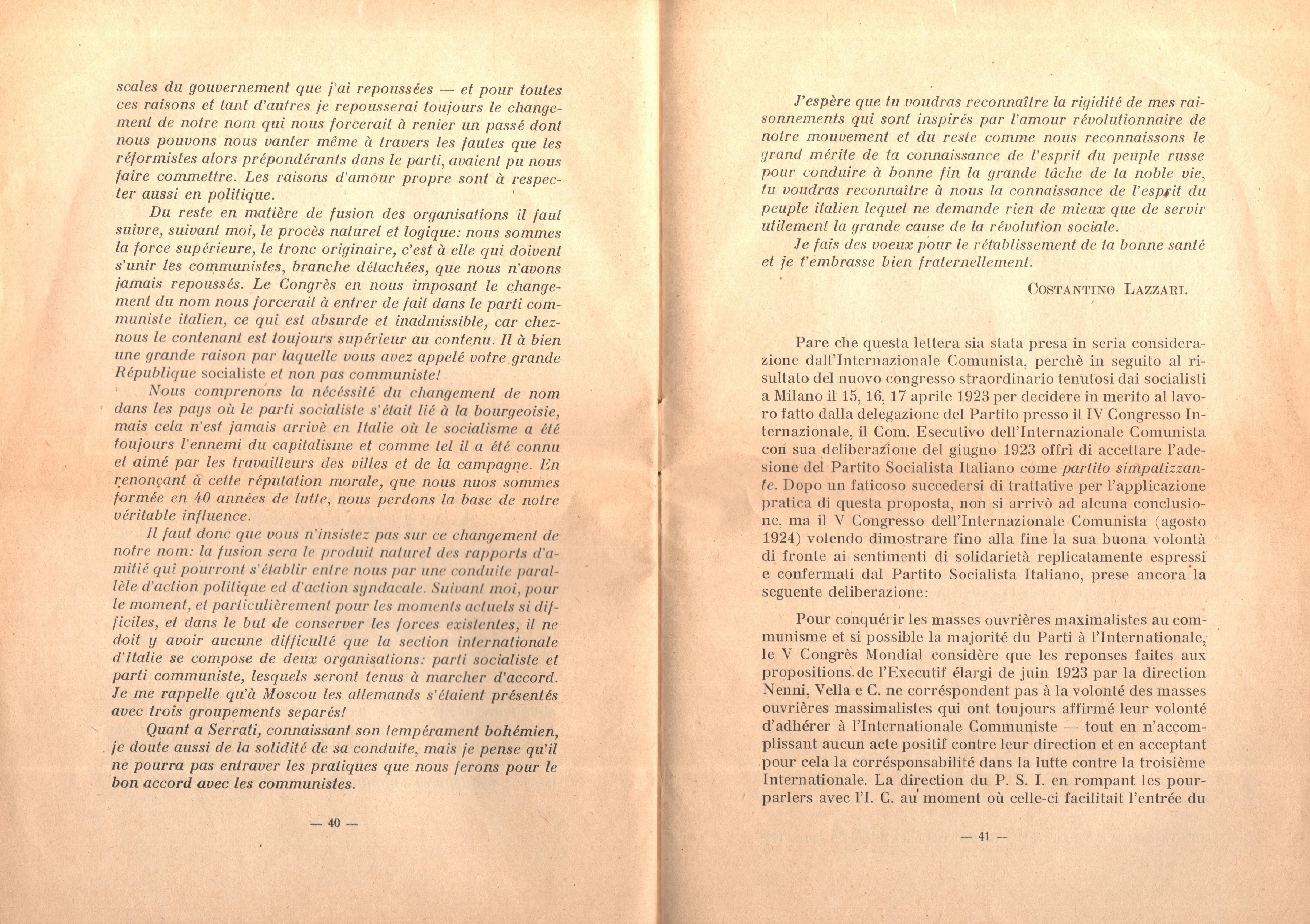 C. Lazzari, Il mio ultimo colloquio con Nicola Lenin - pag. 22
