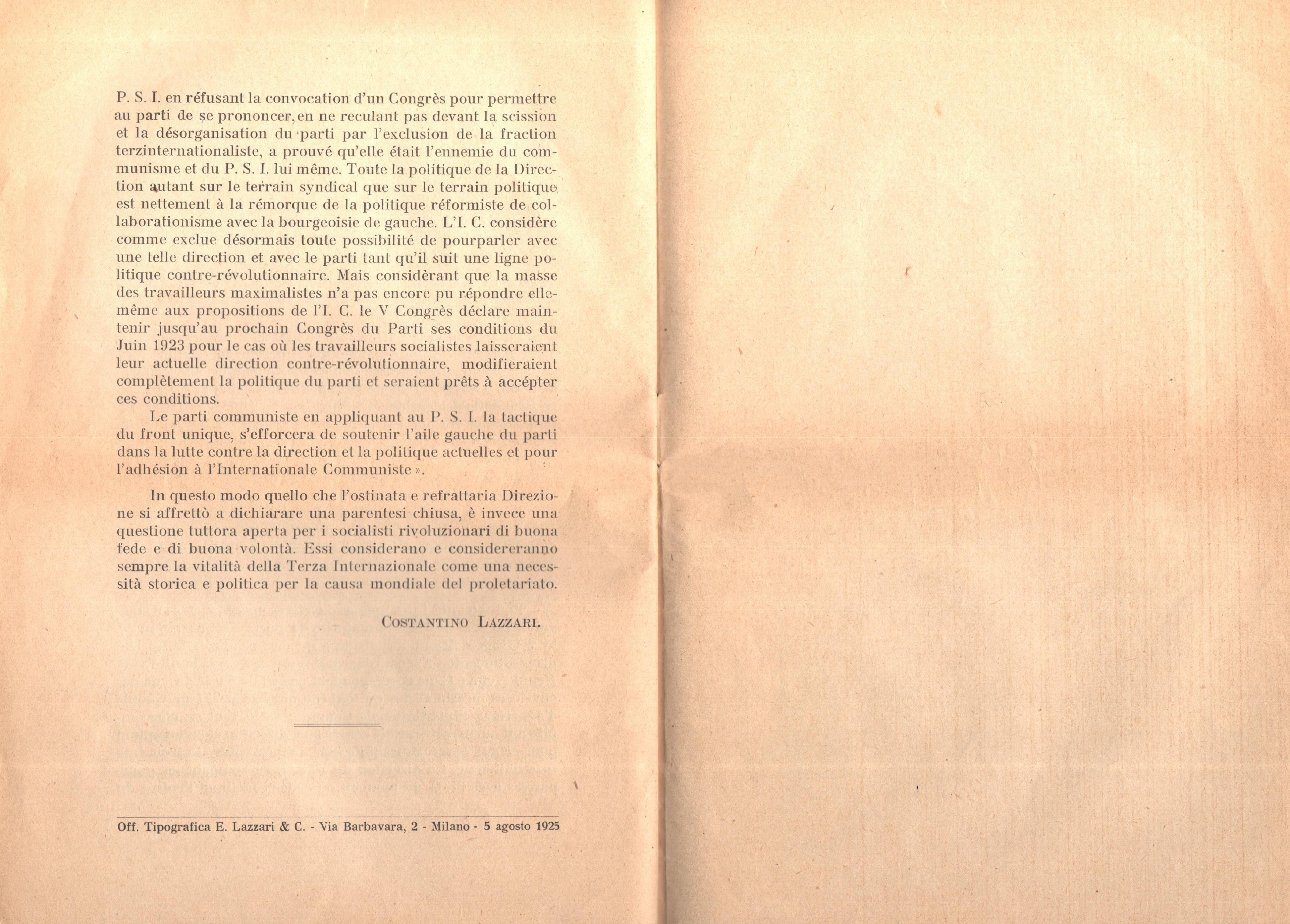 C. Lazzari, Il mio ultimo colloquio con Nicola Lenin - pag. 23