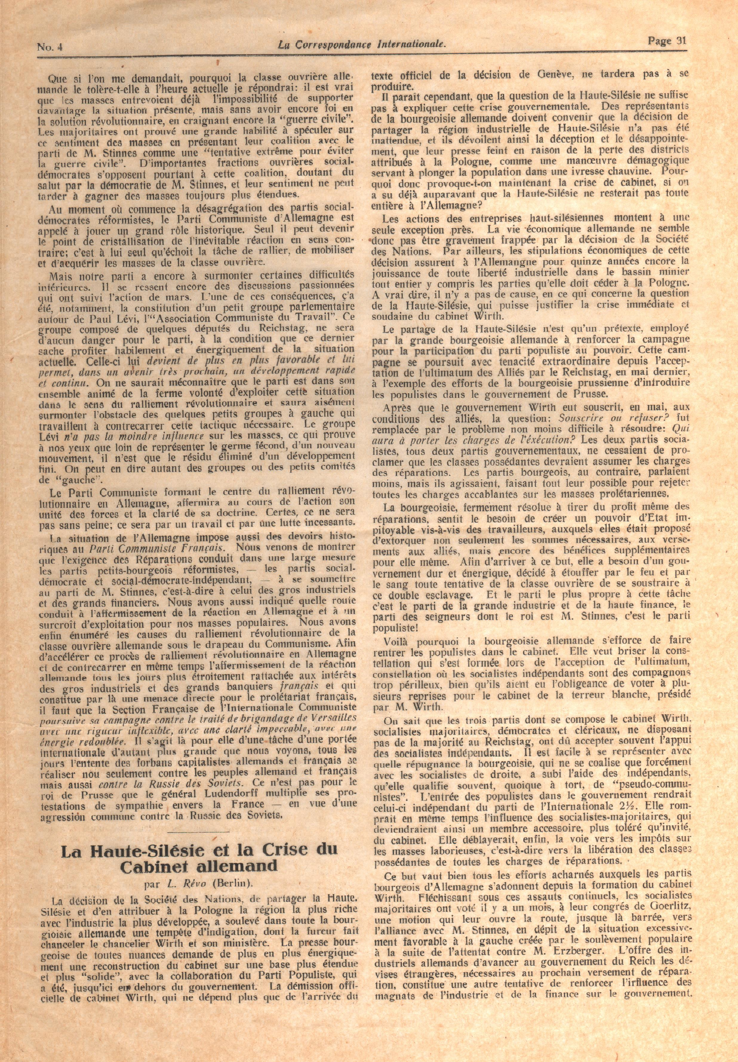 Correspondance Internationale n. 4 - pag. 3