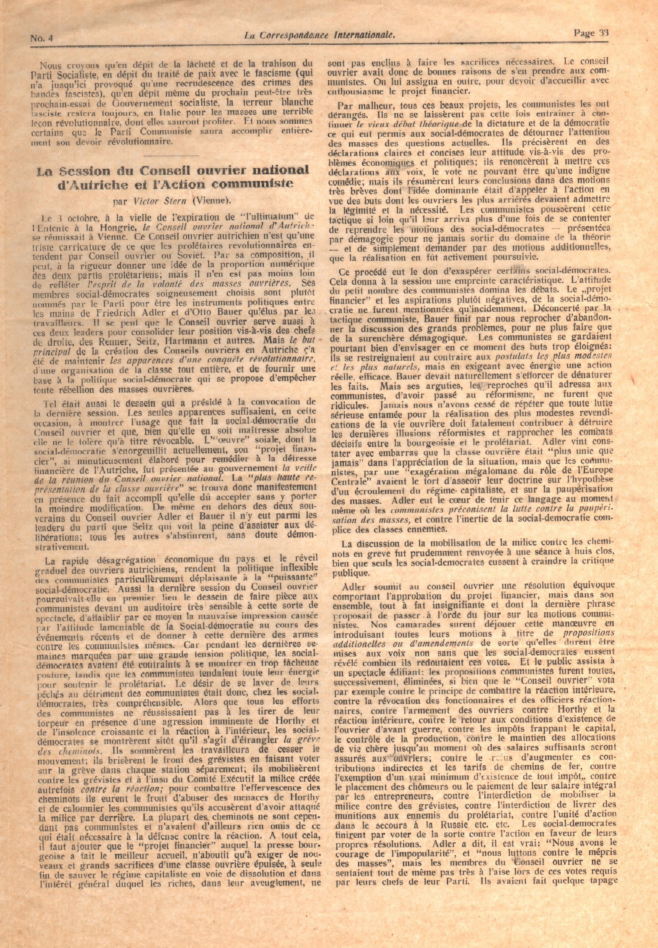 Correspondance Internationale n. 4 - pag. 5