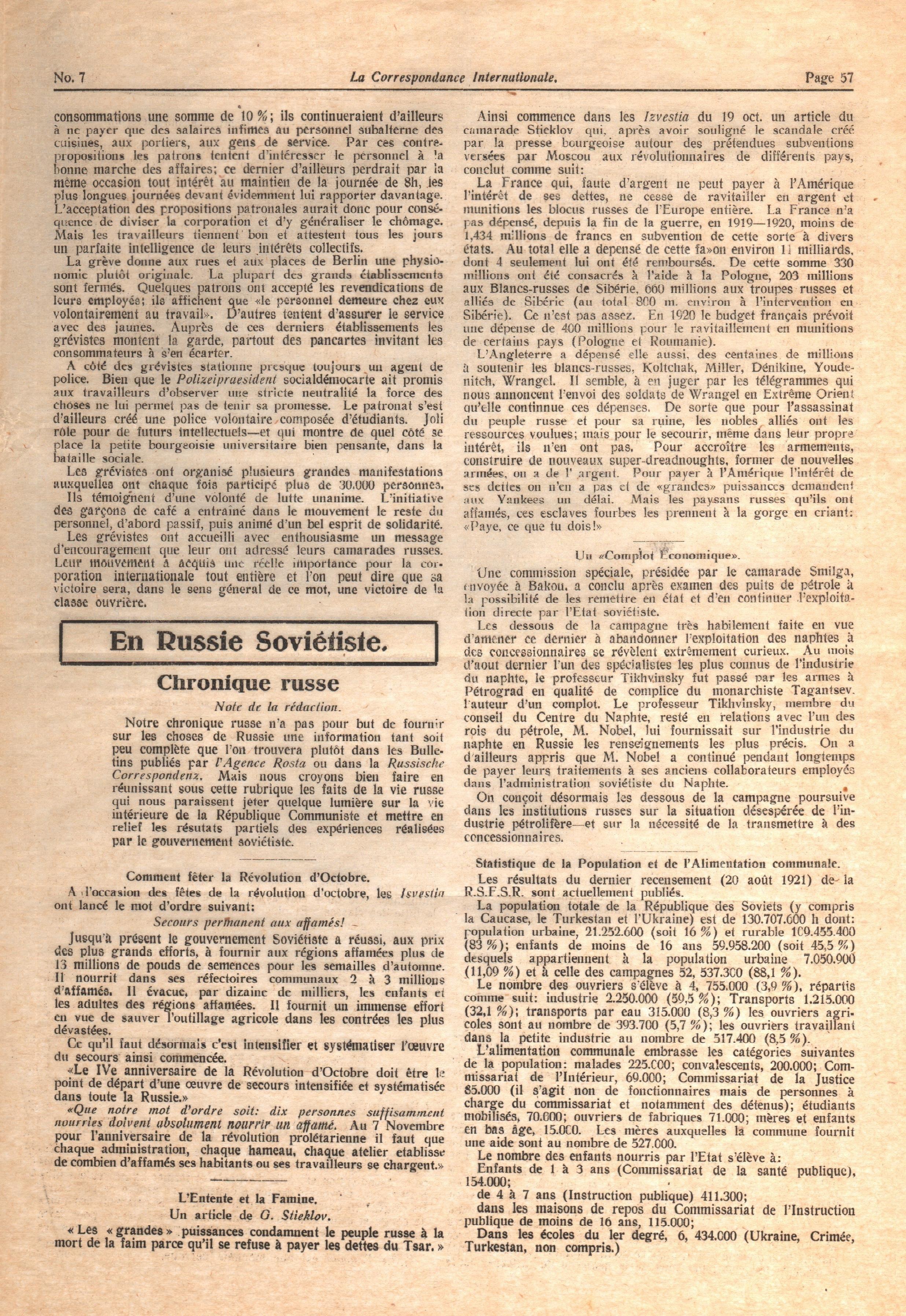 La Correspondance Internationale 7 - pag. 05
