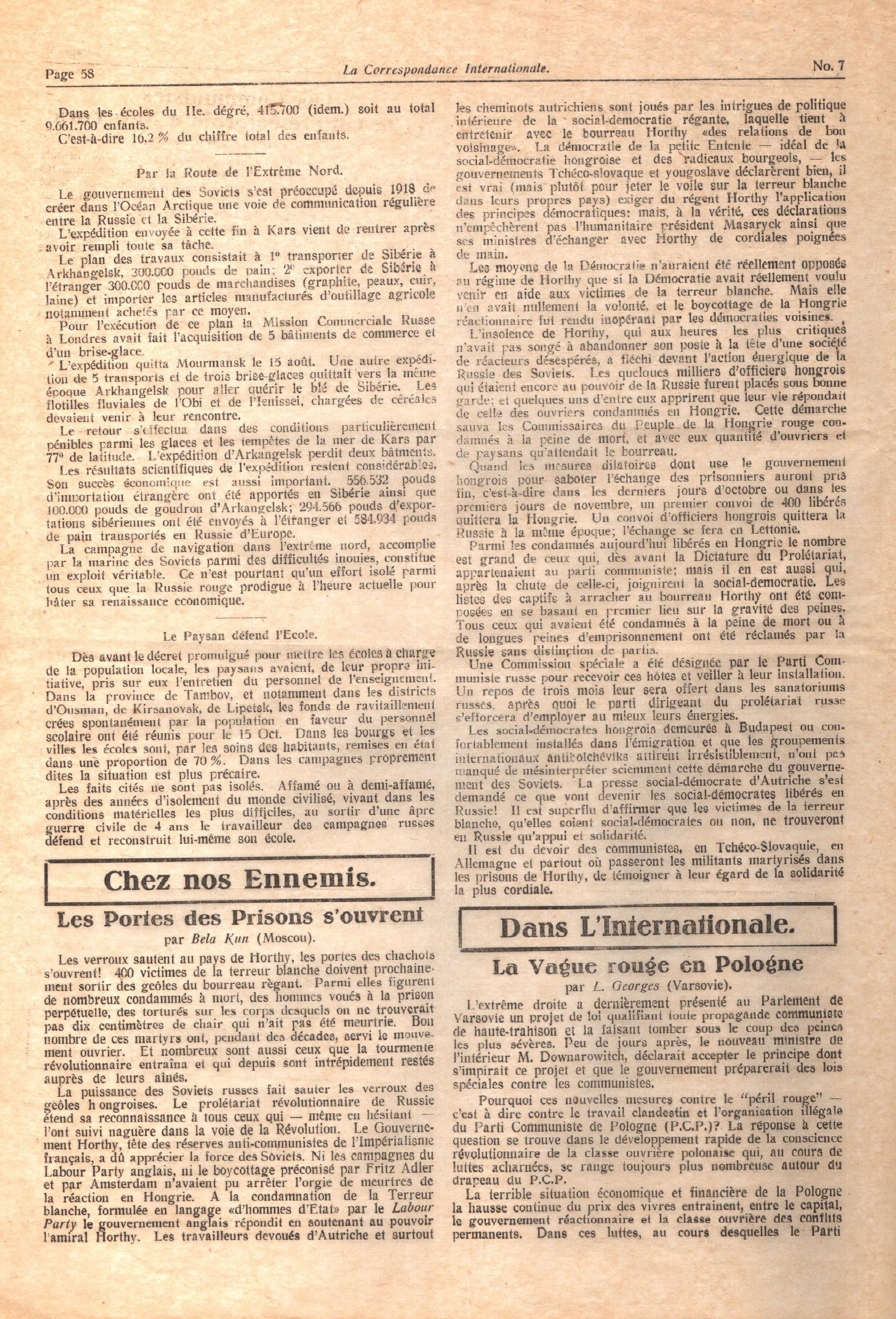 La Correspondance Internationale 7 - pag. 06