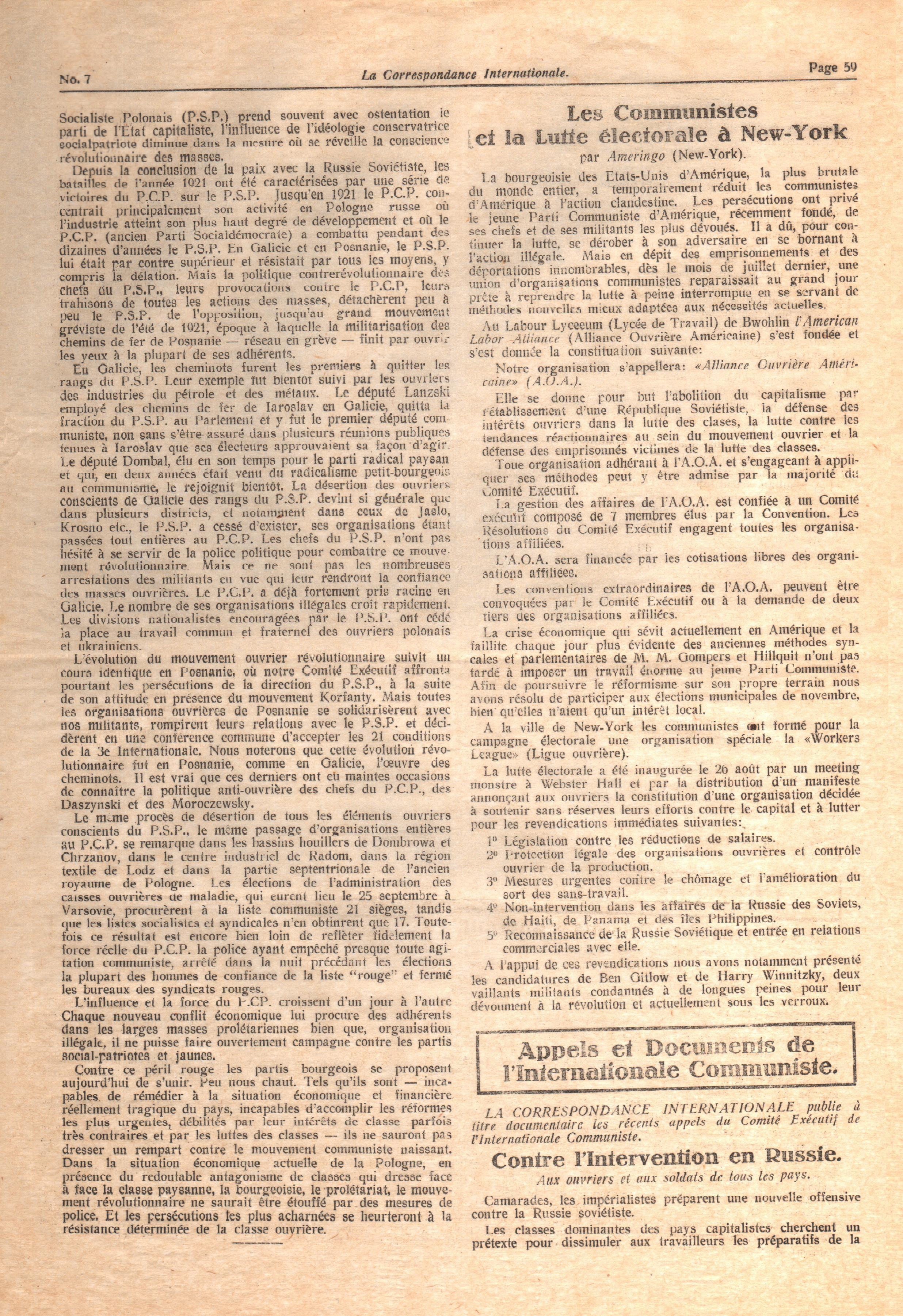 La Correspondance Internationale 7 - pag. 07