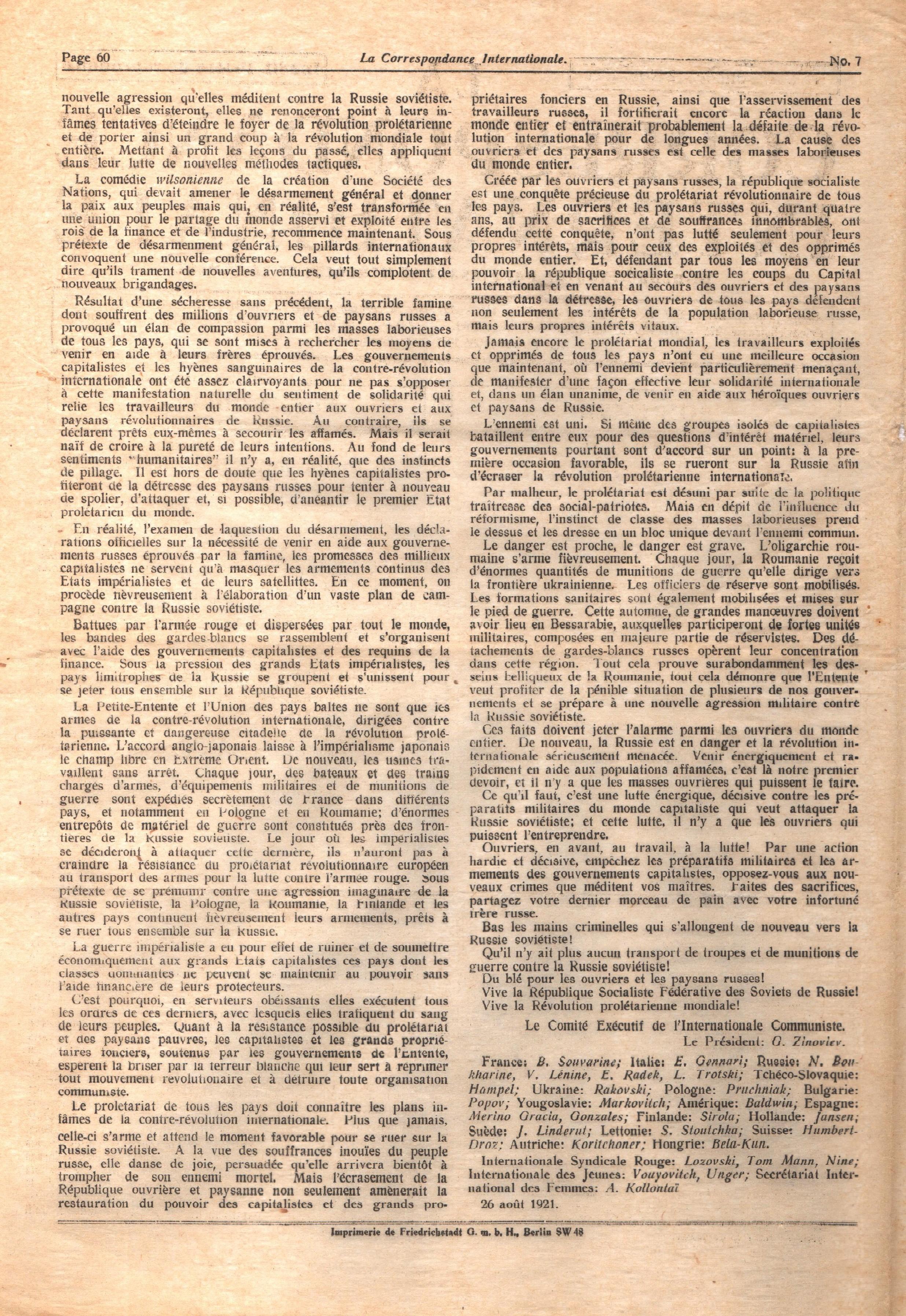 La Correspondance Internationale 7 - pag. 08