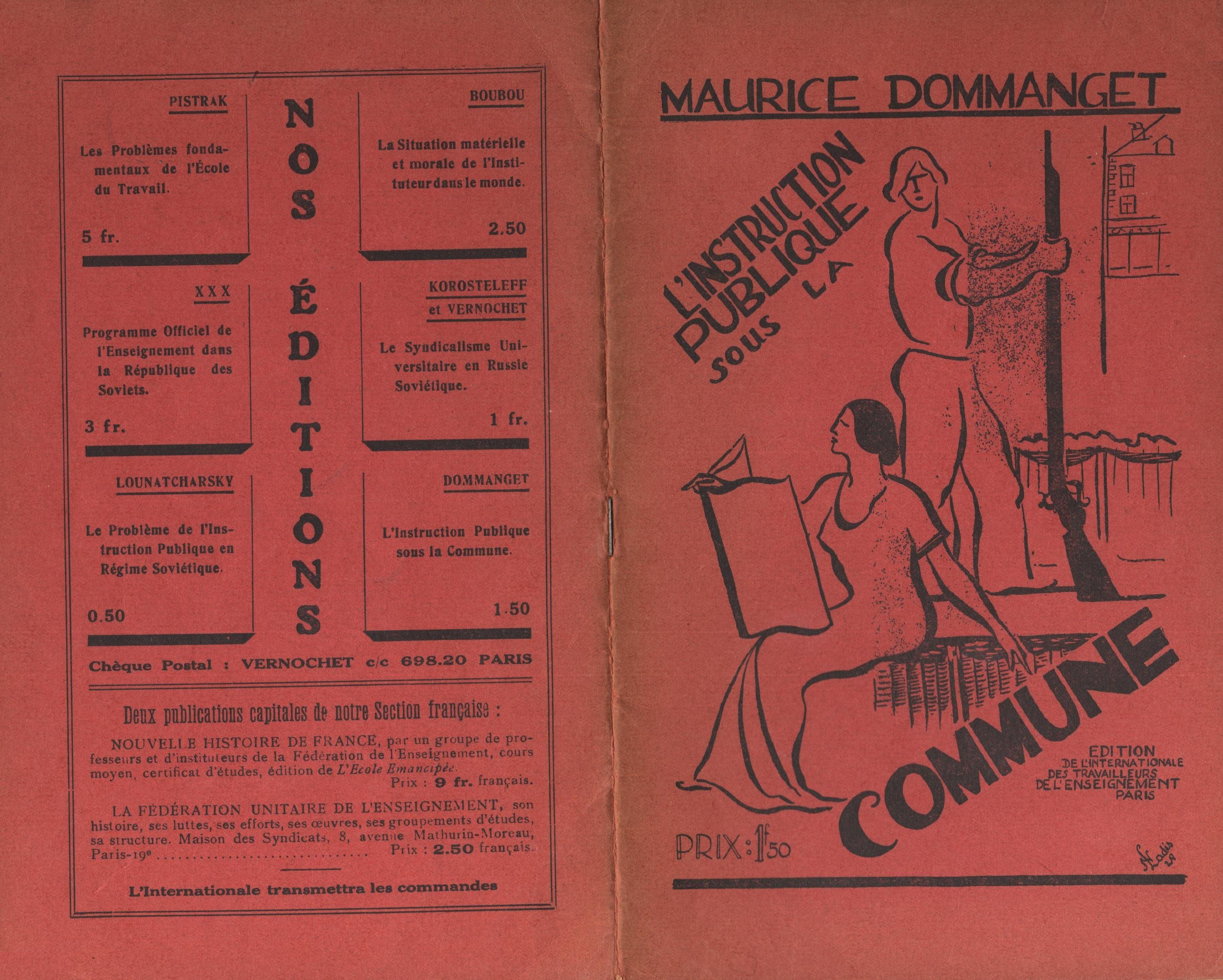 Maurice Dommanget, L'instruction publique sous la Commune - pag. 01