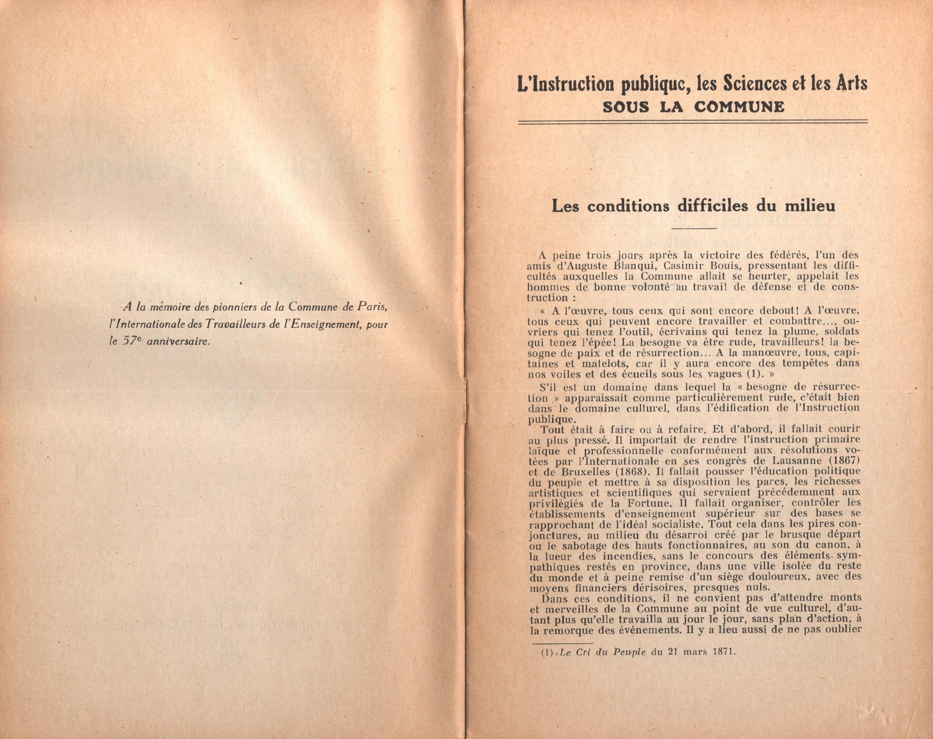 Maurice Dommanget, L'instruction publique sous la Commune - pag. 03