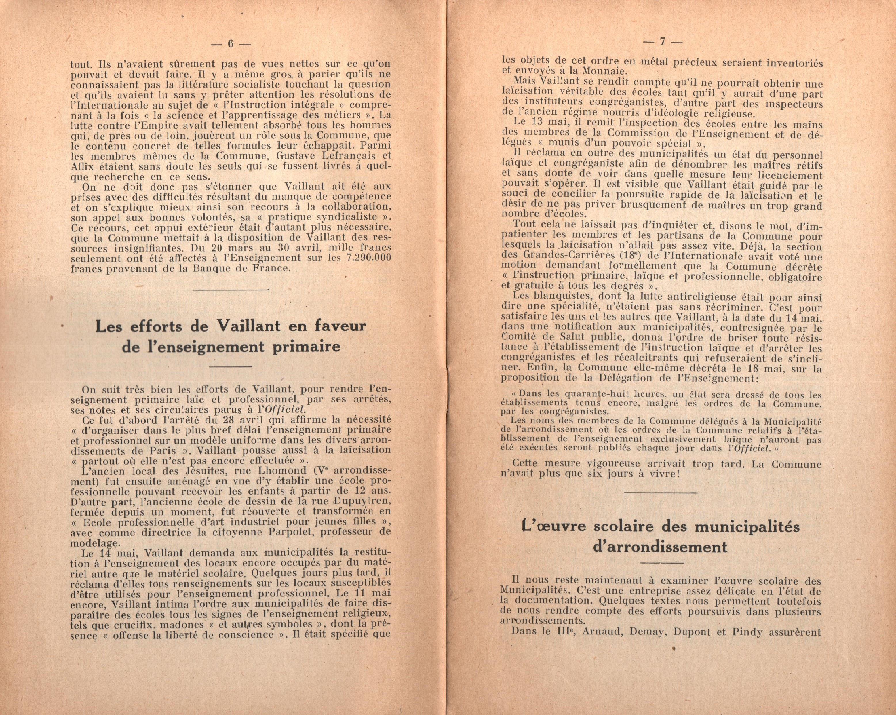 Maurice Dommanget, L'instruction publique sous la Commune - pag. 05