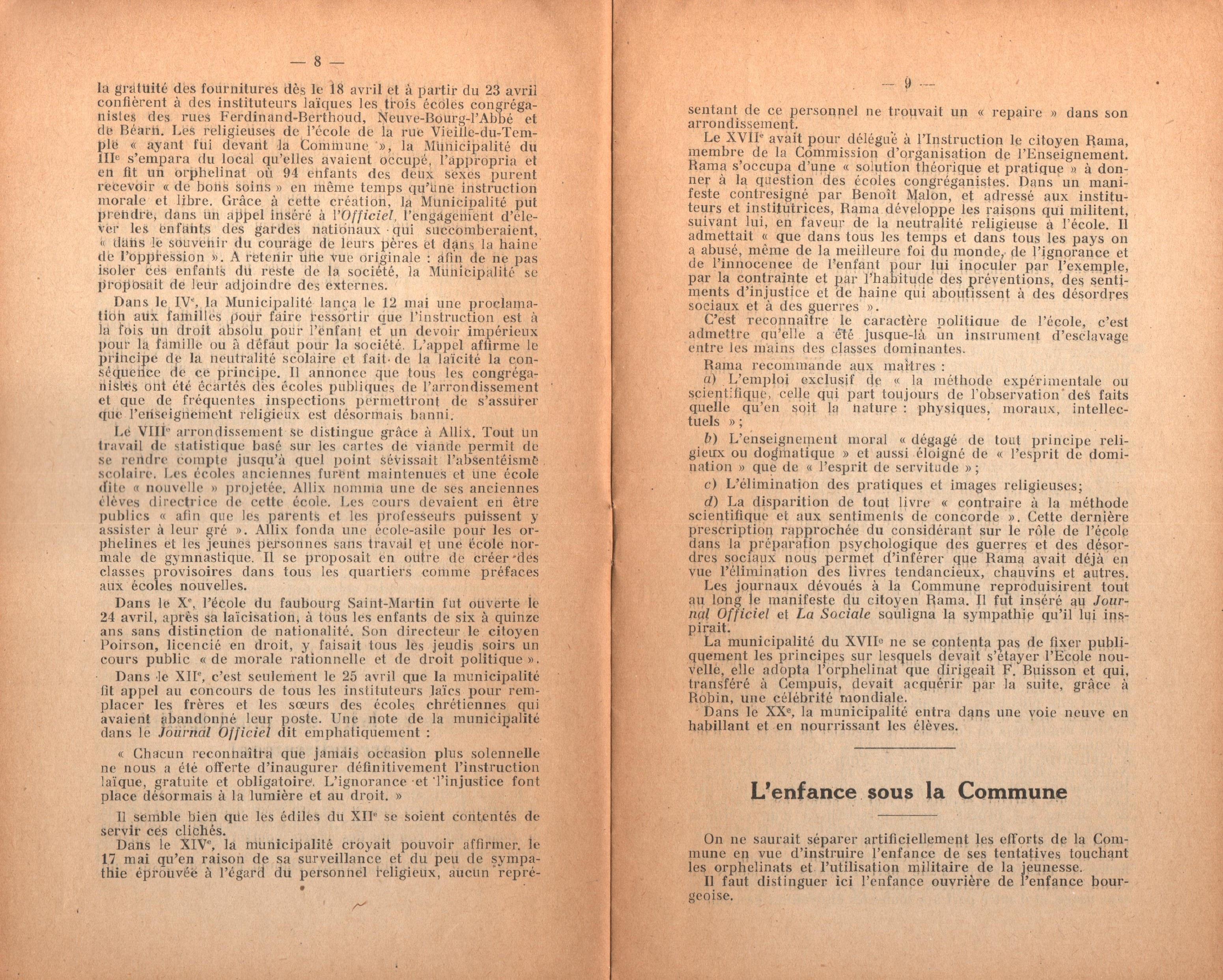 Maurice Dommanget, L'instruction publique sous la Commune - pag. 06