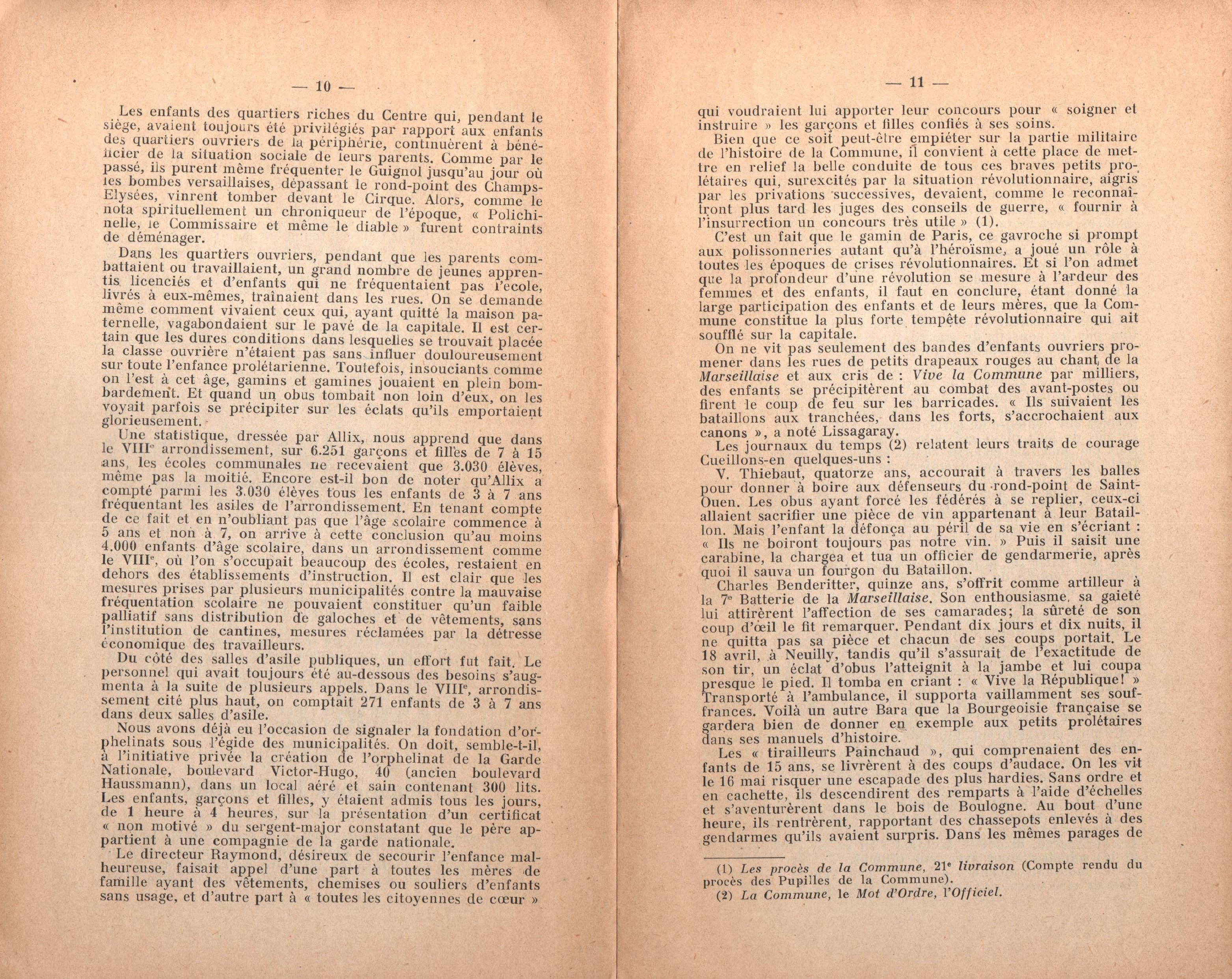 Maurice Dommanget, L'instruction publique sous la Commune - pag. 07