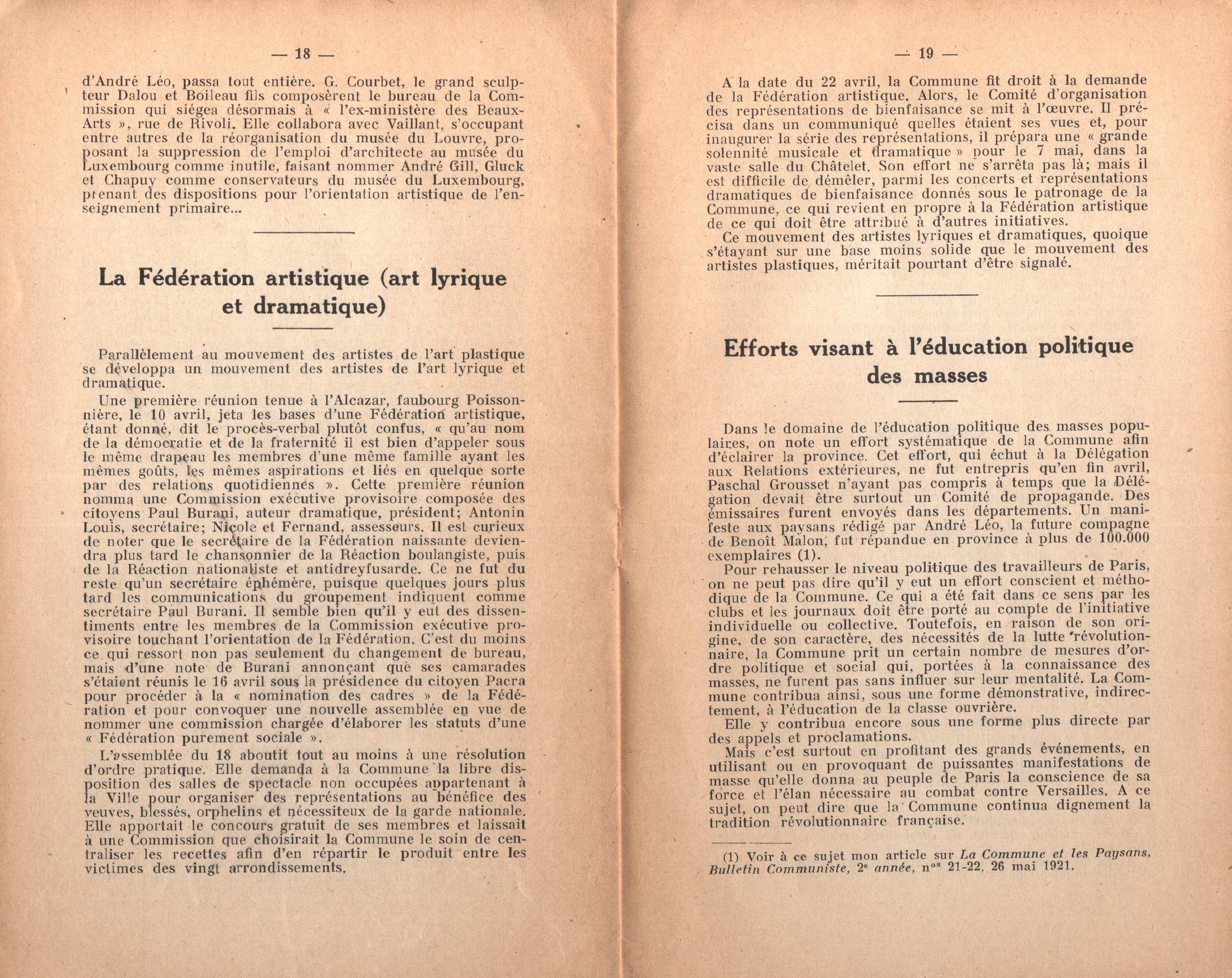 Maurice Dommanget, L'instruction publique sous la Commune - pag. 11