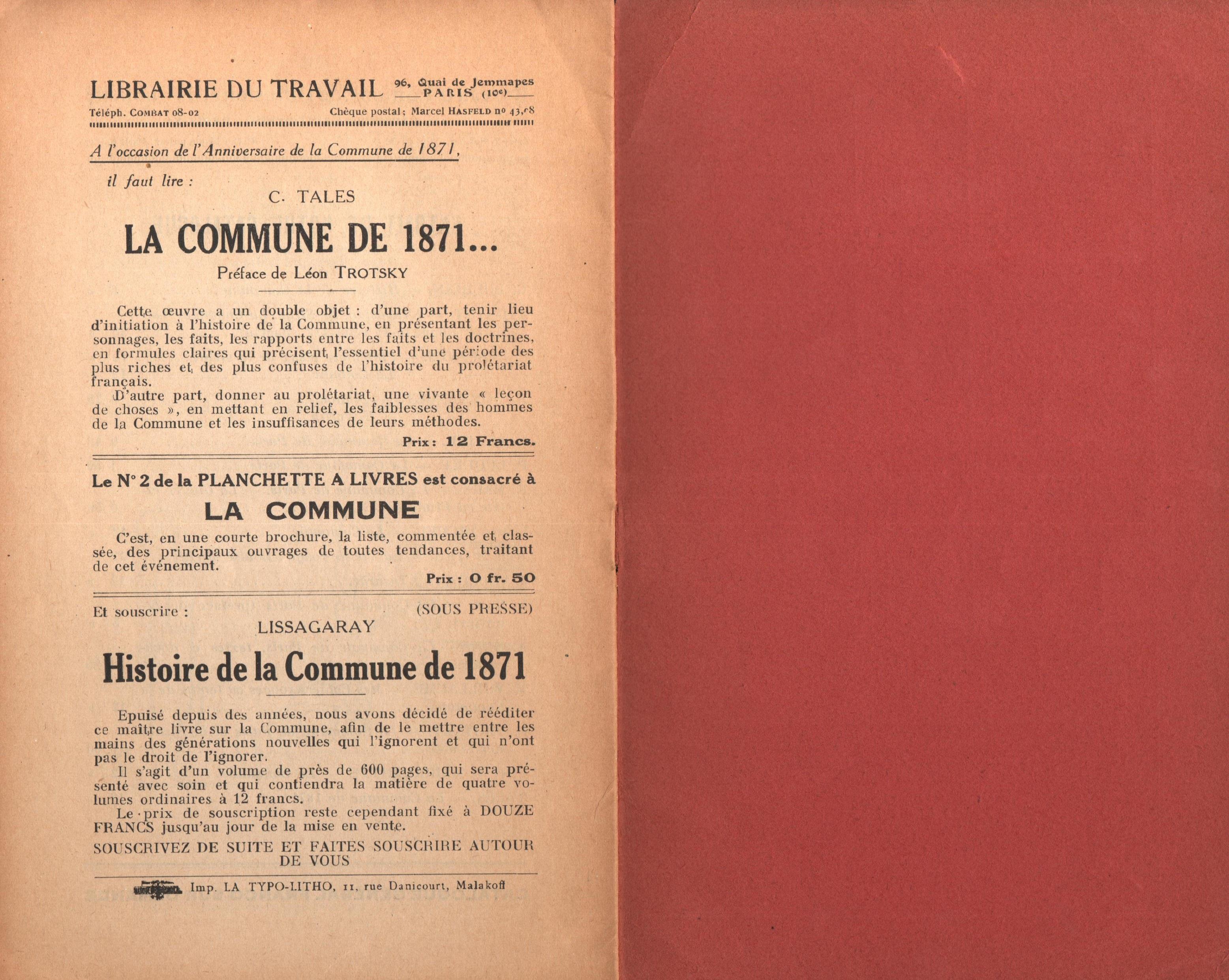 Maurice Dommanget, L'instruction publique sous la Commune - pag. 14