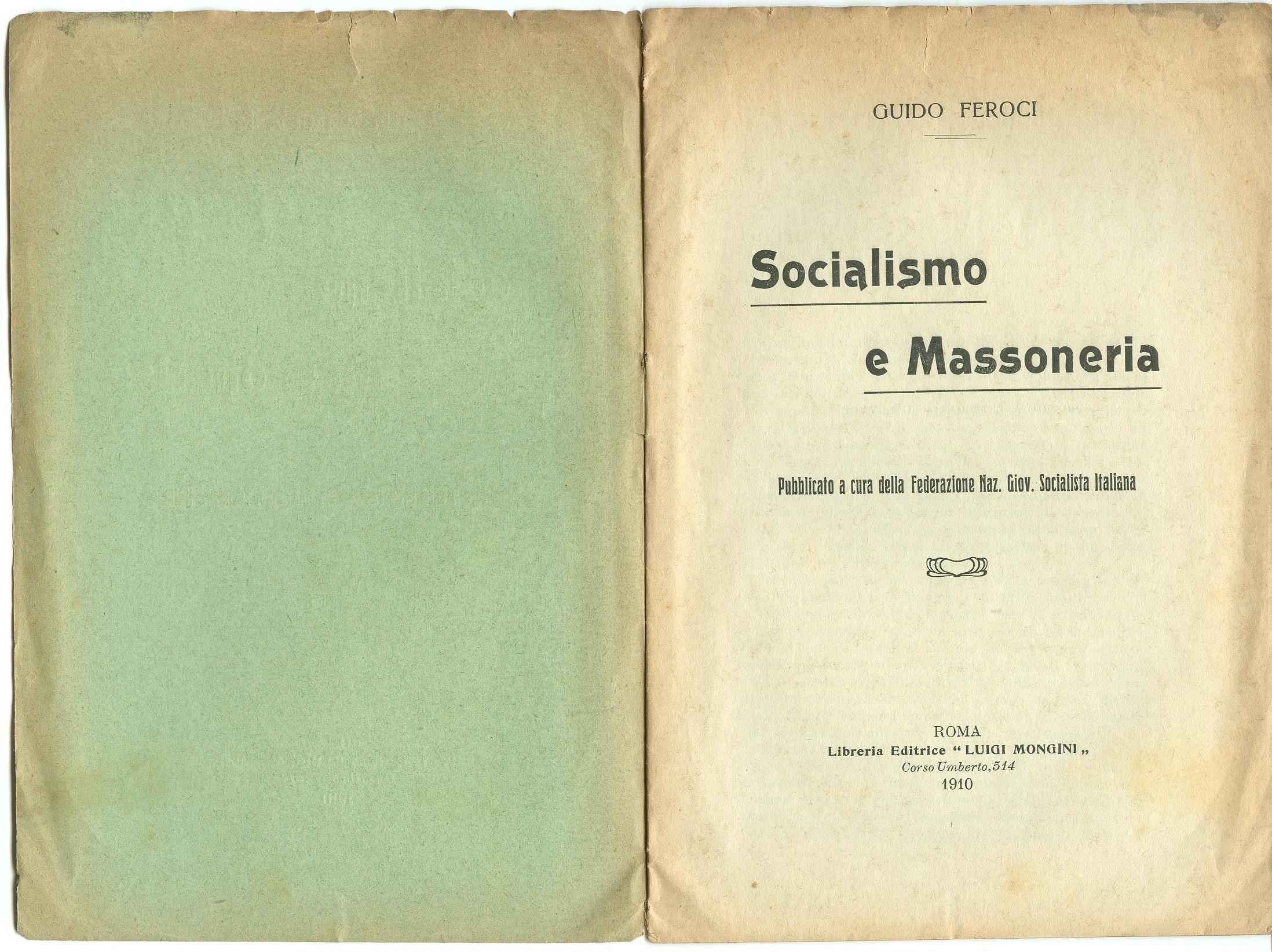 Guido Feroci, Socialismo e Massoneria (1910) - pag. 2