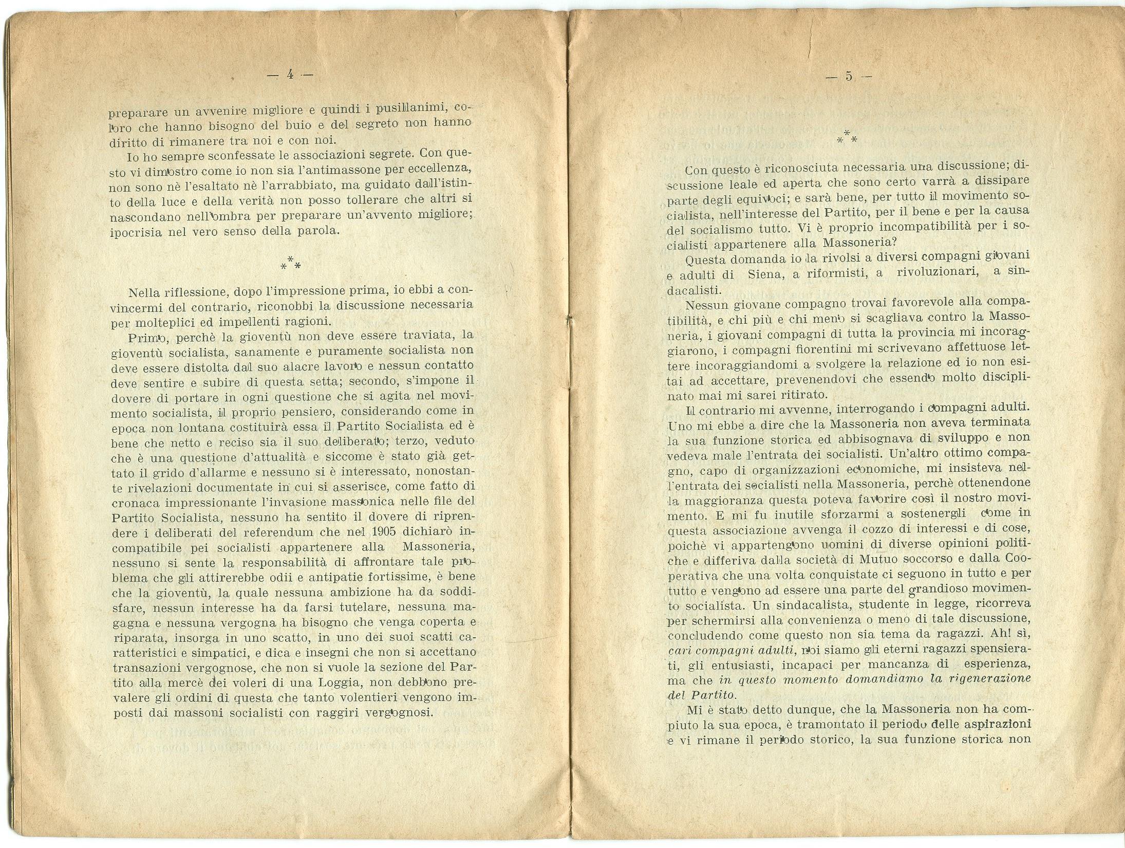 Guido Feroci, Socialismo e Massoneria (1910) - pag. 4