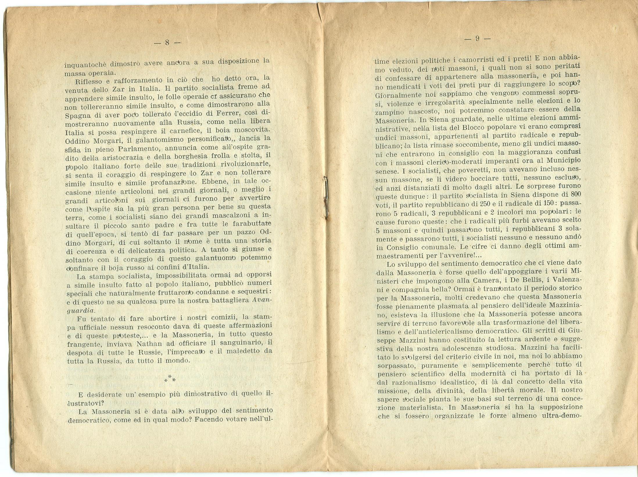 Guido Feroci, Socialismo e Massoneria (1910) - pag. 6