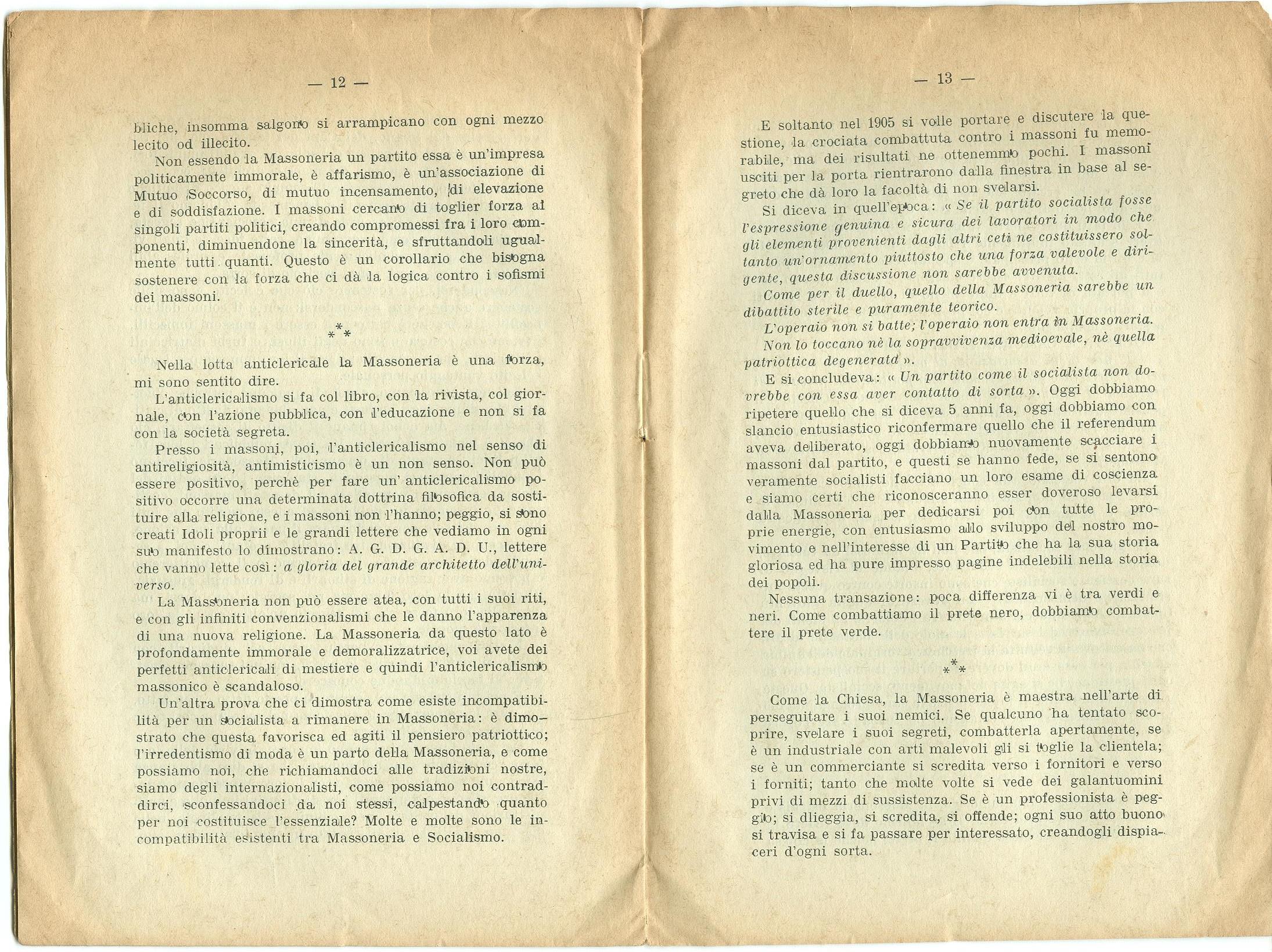Guido Feroci, Socialismo e Massoneria (1910) - pag. 8