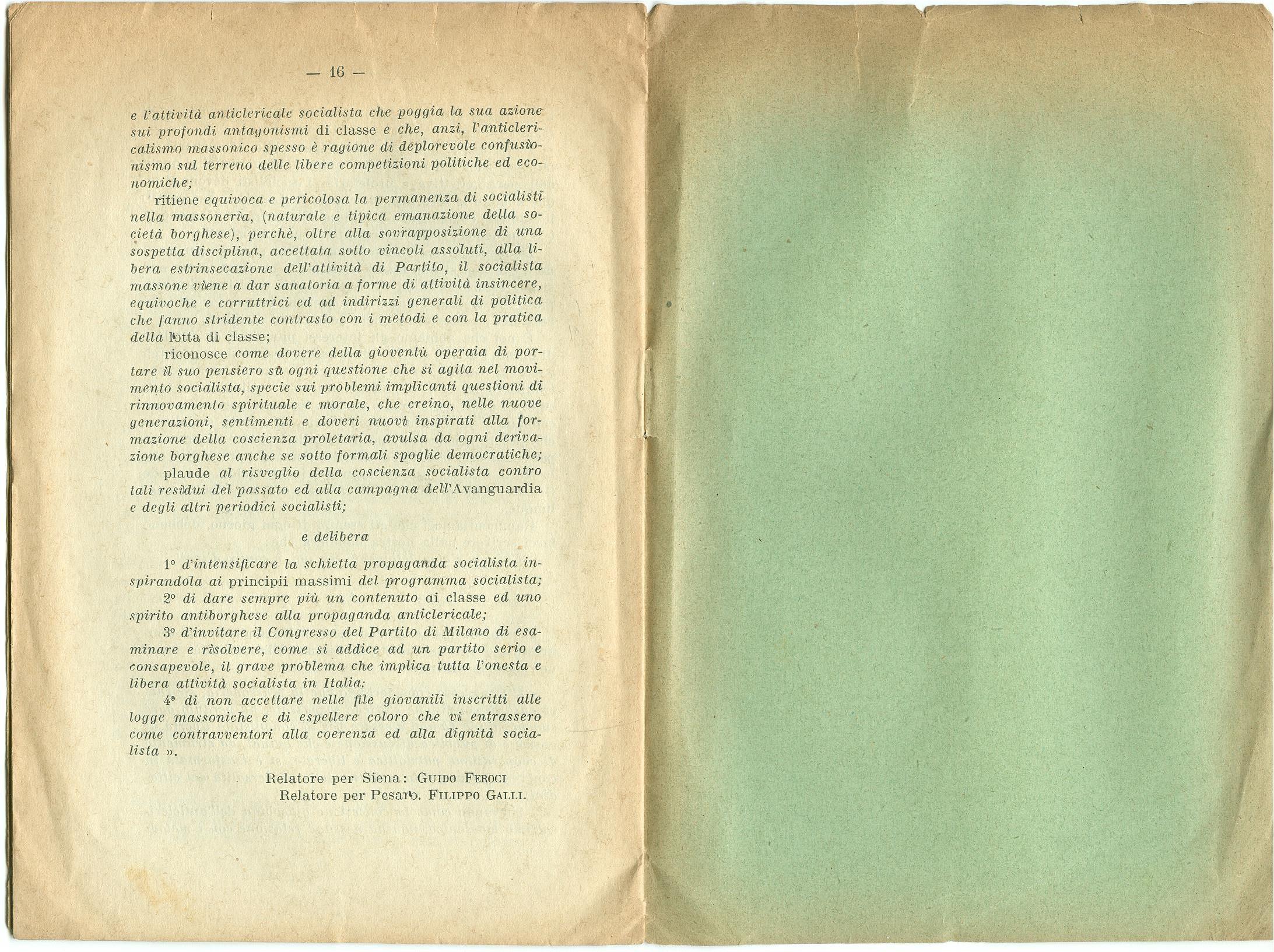 Guido Feroci, Socialismo e Massoneria (1910) - pag. 10