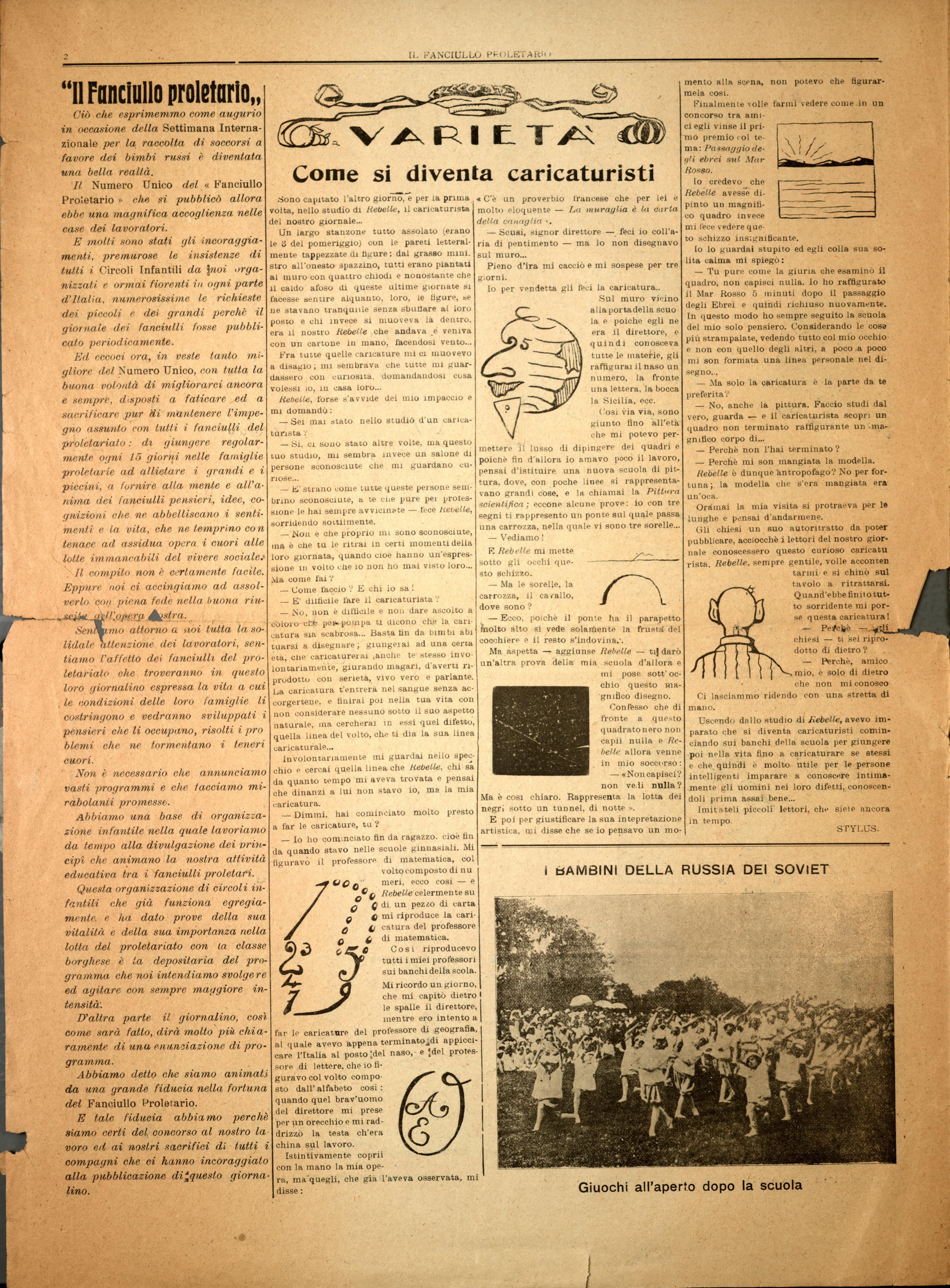 Il Fanciullo Proletario n. 1 (settembre 1922) - pag. 2