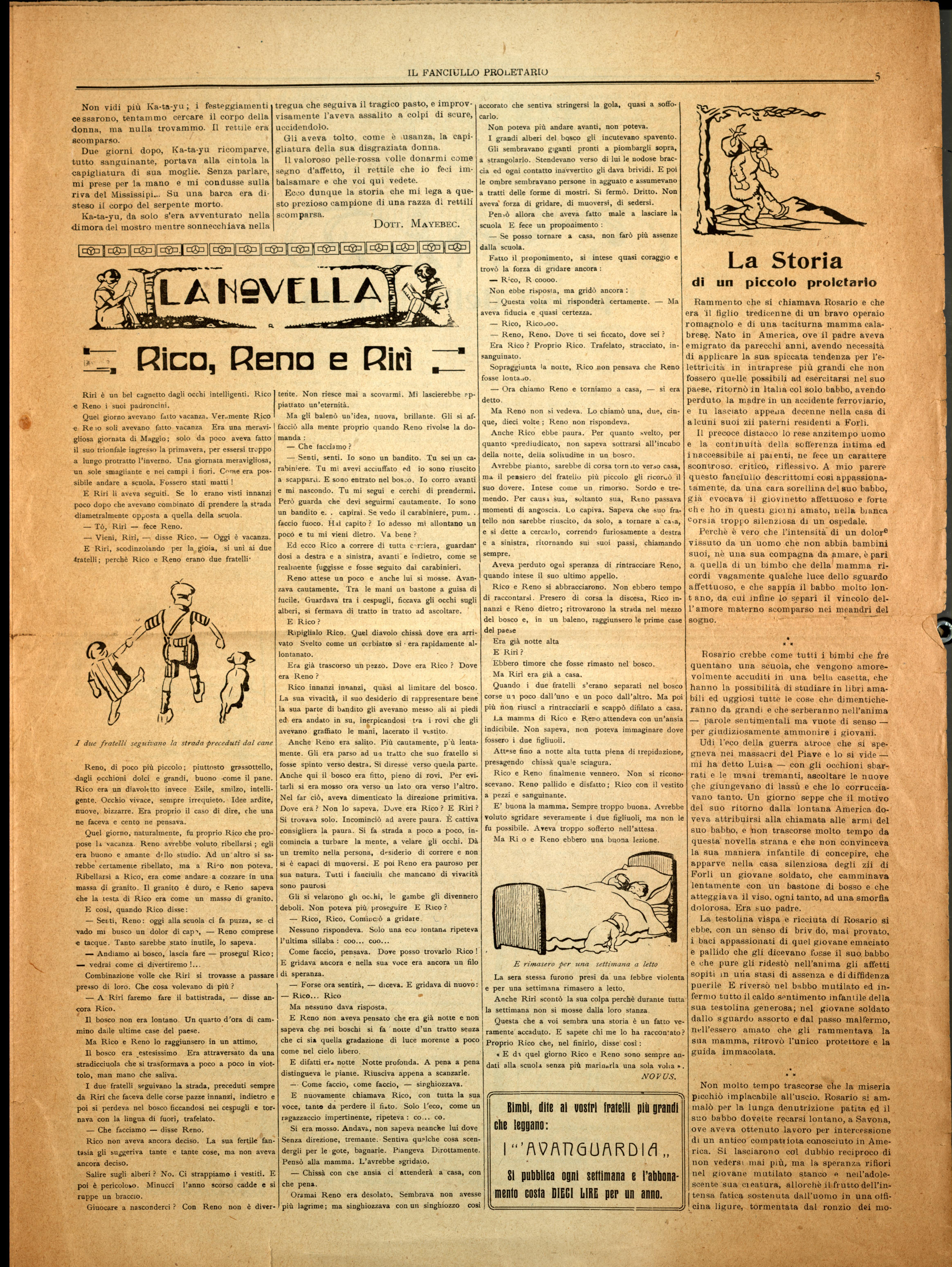 Il Fanciullo Proletario n. 1 (settembre 1922) - pag. 5