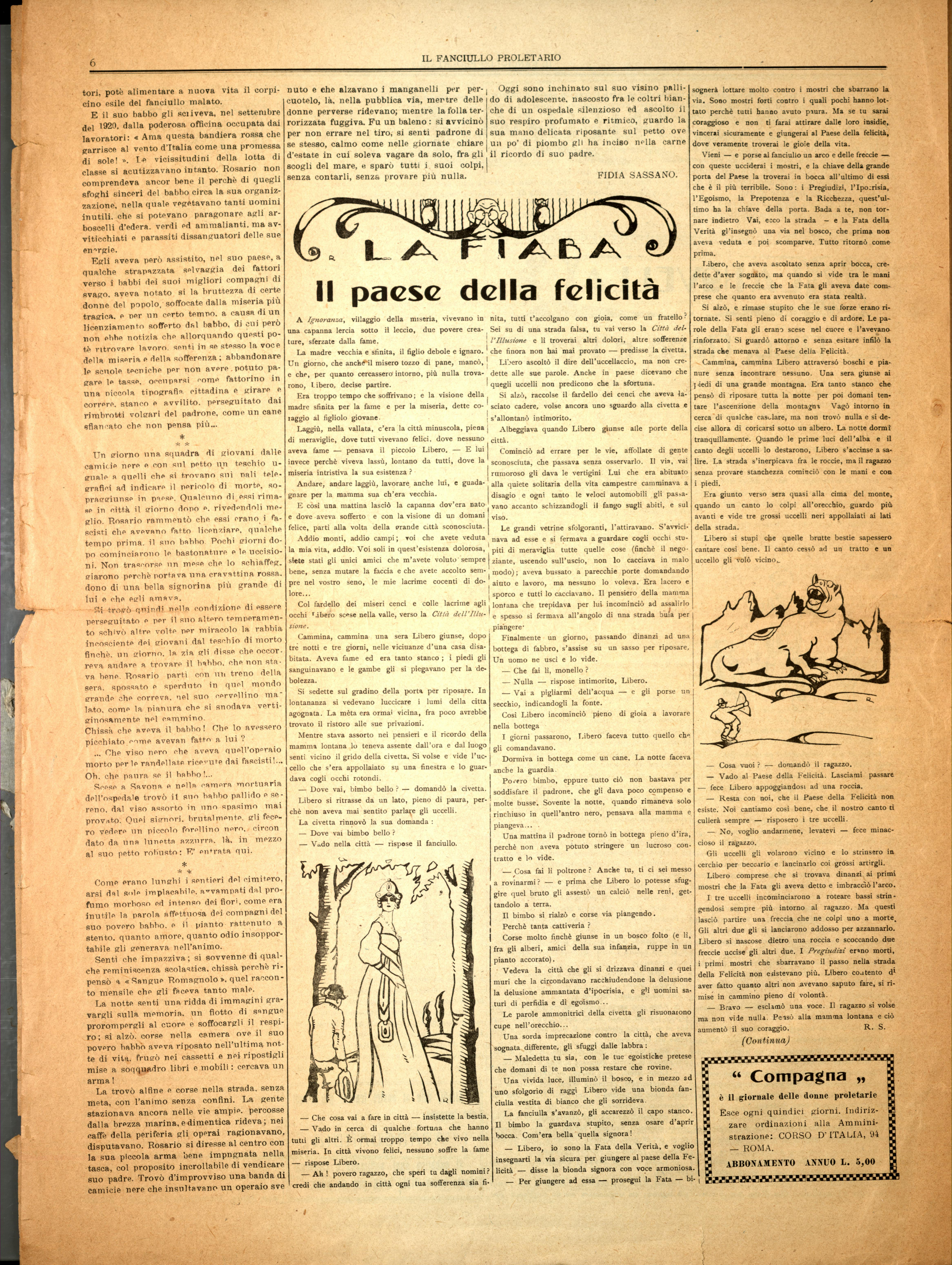 Il Fanciullo Proletario n. 1 (settembre 1922) - pag. 6