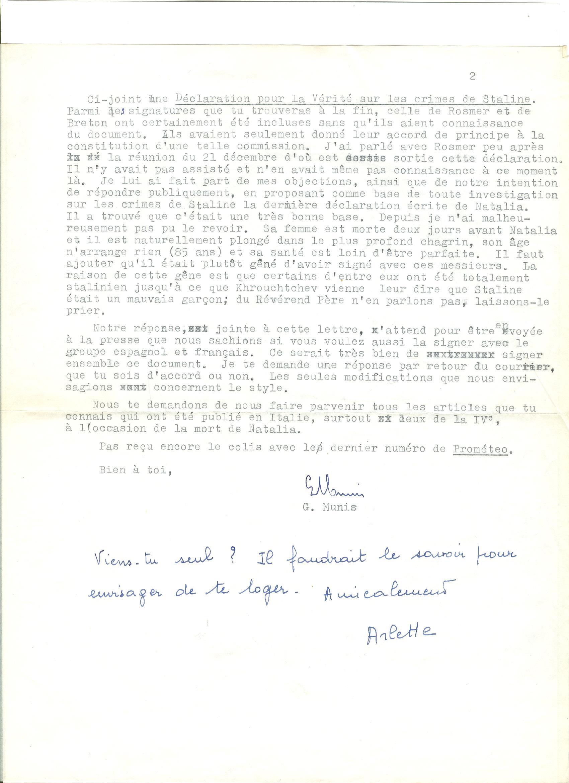 05 >> 3.b - Lettera di Munis a Onorato Damen (4 marzo 1962)