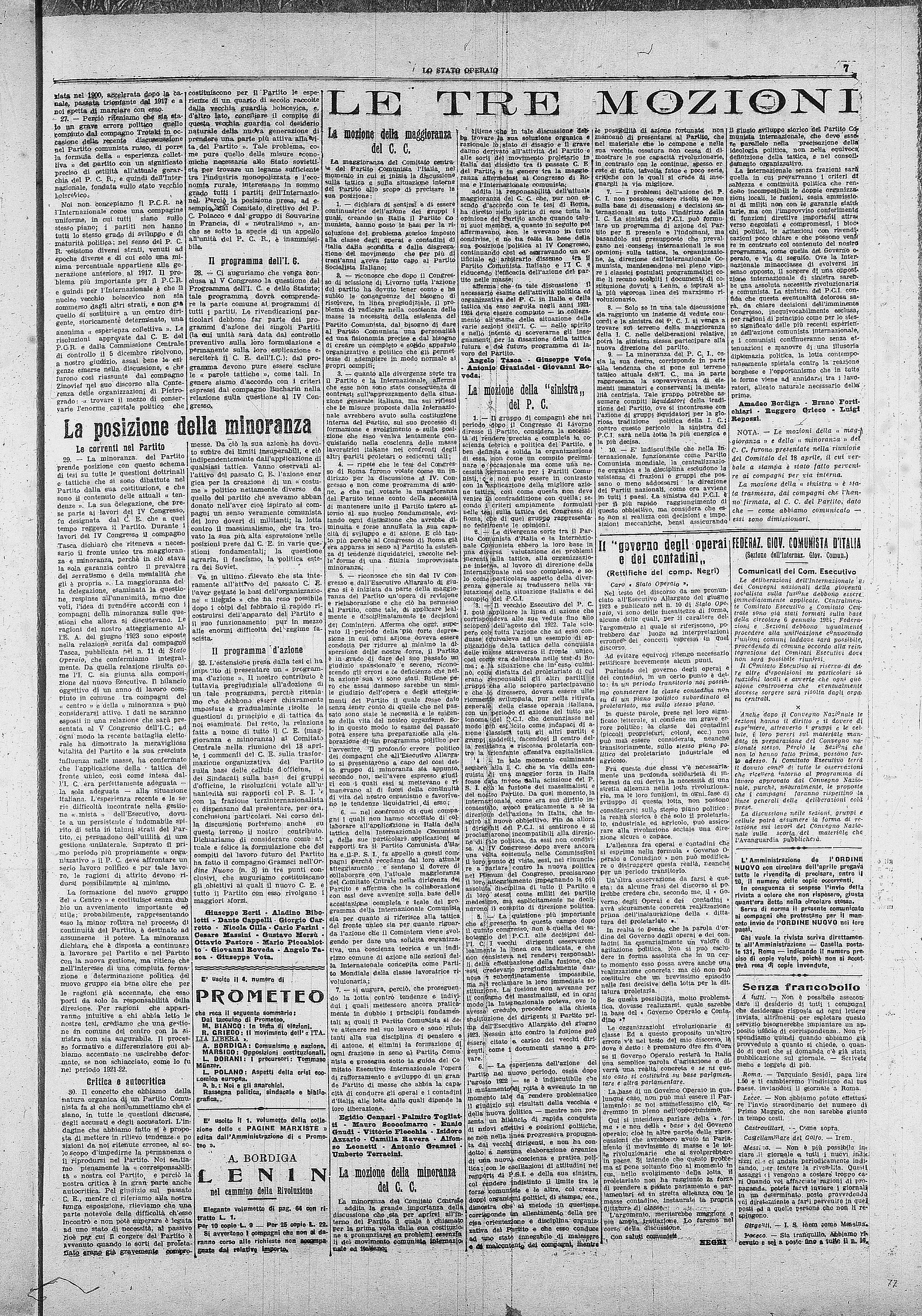 Lo Stato Operaio n. 16 (1924) - pag. 7