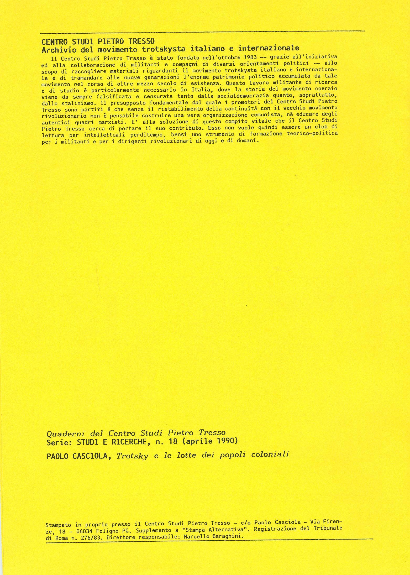 Studi e Ricerche n. 18 (aprile 1990) - pag. II