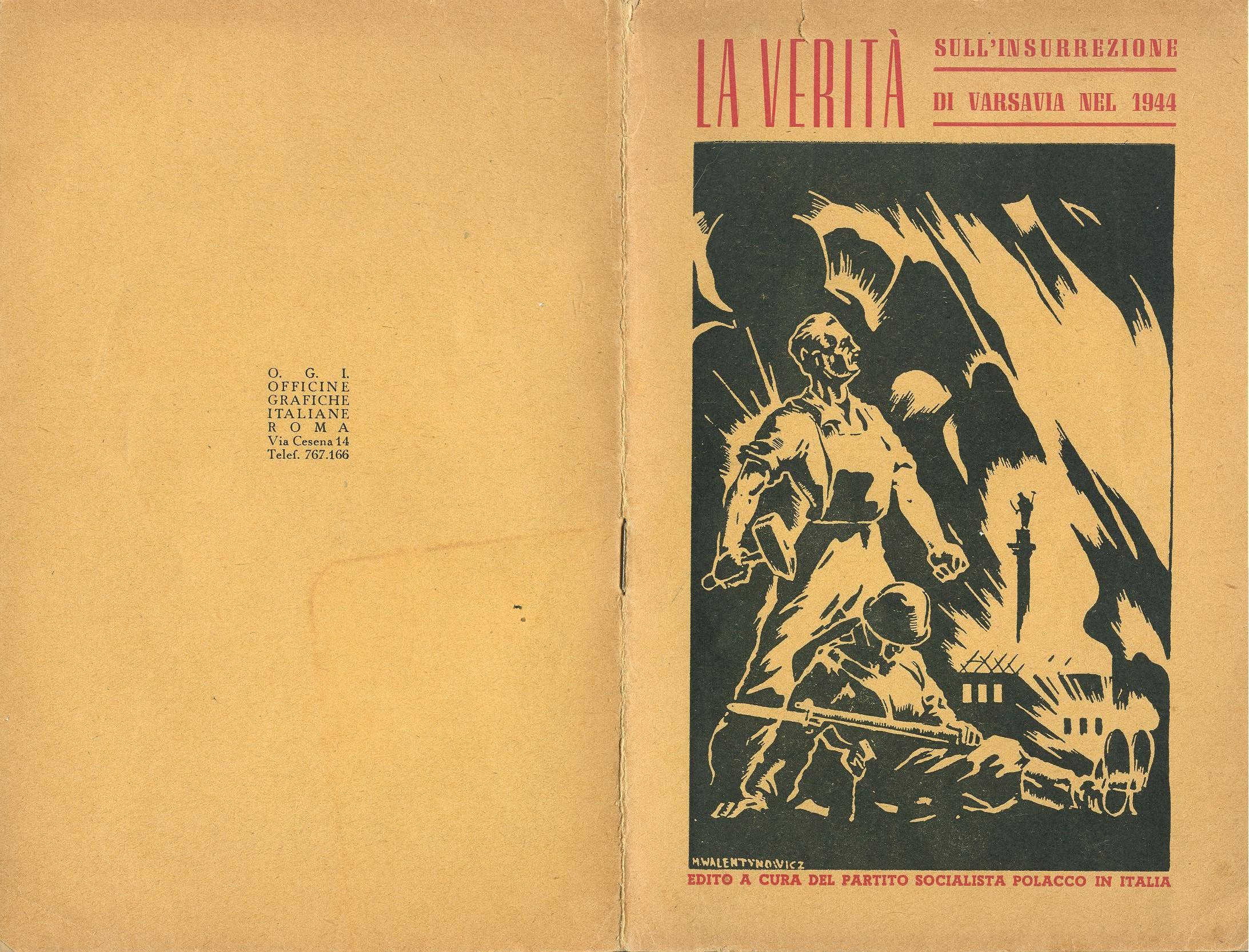 Zygmunt Zaremba, La verità sull'insurrezione di Varsavia nel 1944 (1946) - pag. 1