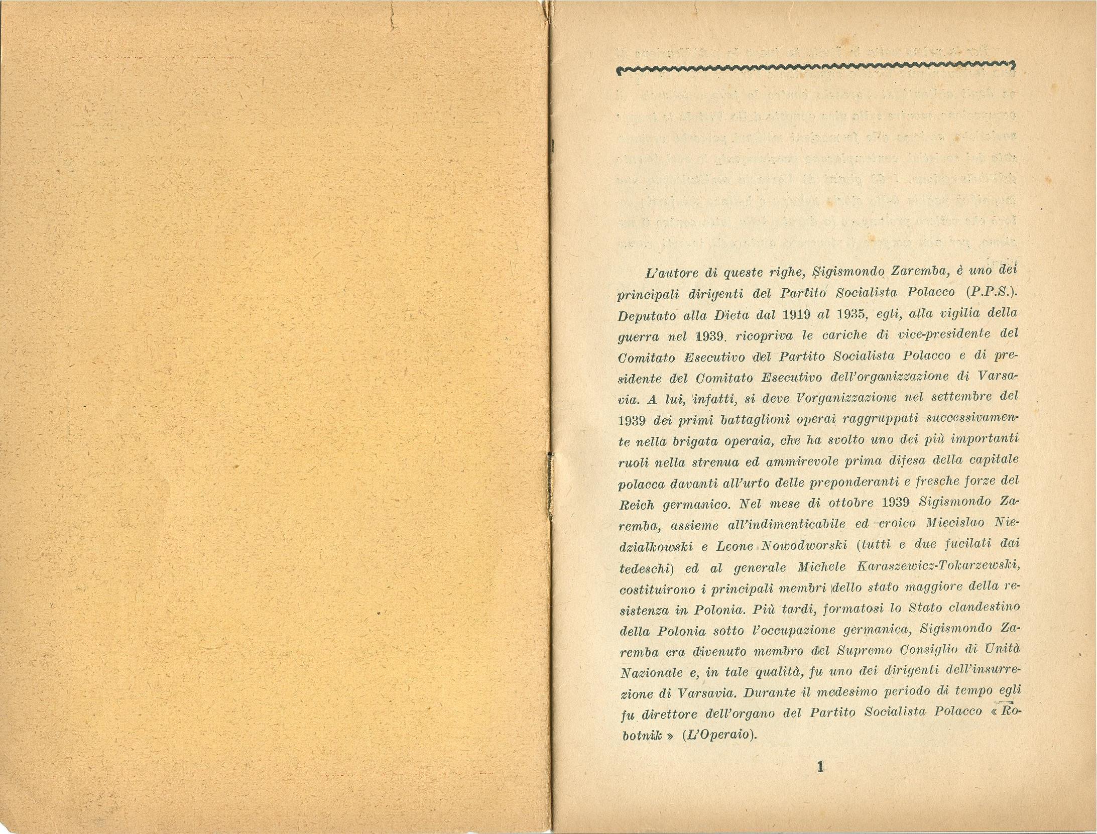 Zygmunt Zaremba, La verità sull'insurrezione di Varsavia nel 1944 (1946) - pag. 2