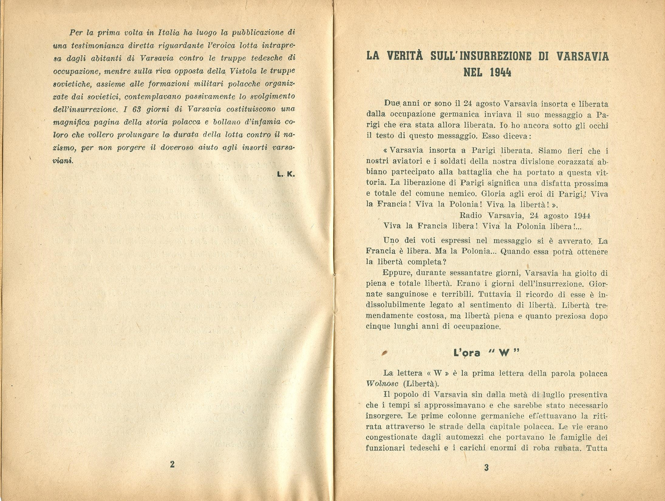 Zygmunt Zaremba, La verità sull'insurrezione di Varsavia nel 1944 (1946) - pag. 3