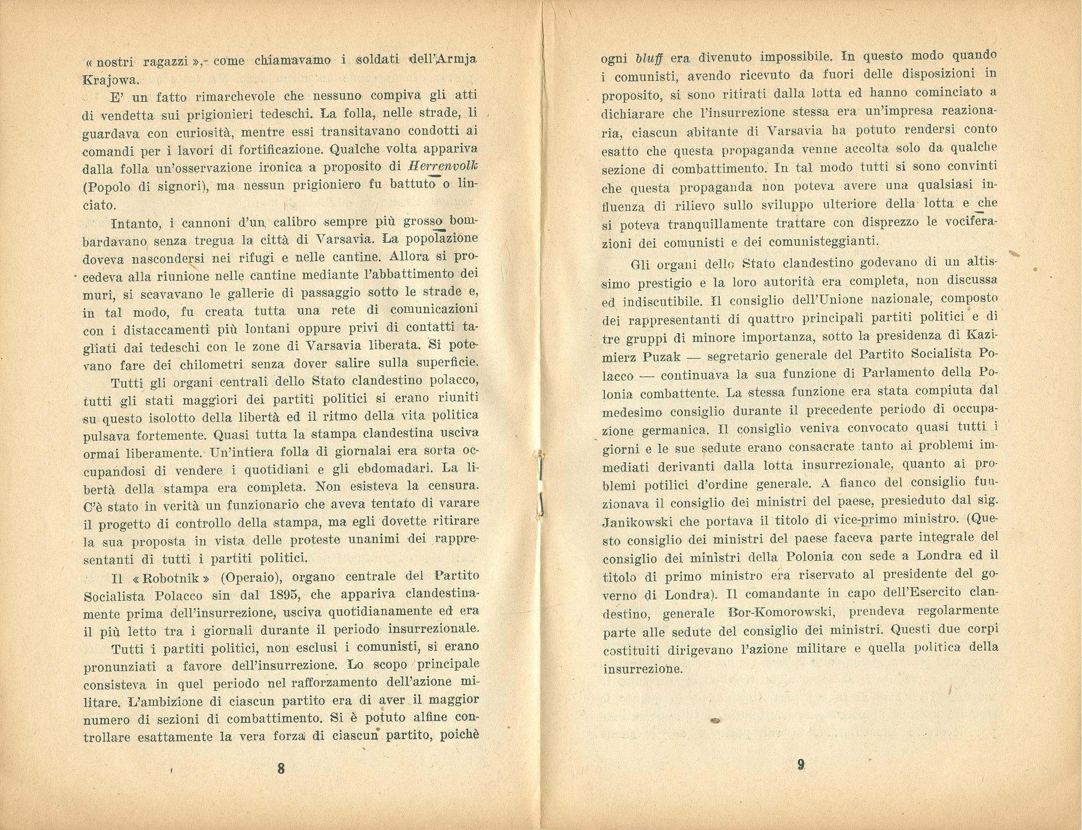 Zygmunt Zaremba, La verità sull'insurrezione di Varsavia nel 1944 (1946) - pag. 6