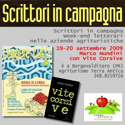 Marco Nundini a Scrittori in Campagna al Terra Antica