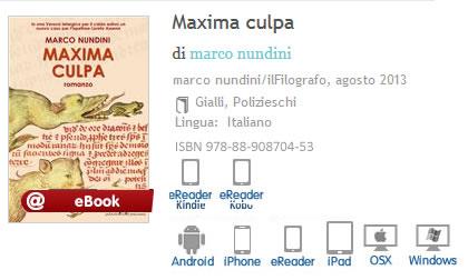 Maxima Culpa Marco Nundini ISBN 9788890870453