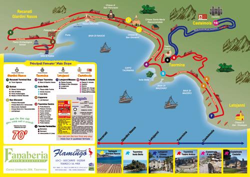Mappa servizio Giardini Naxos Taormina Castelmola