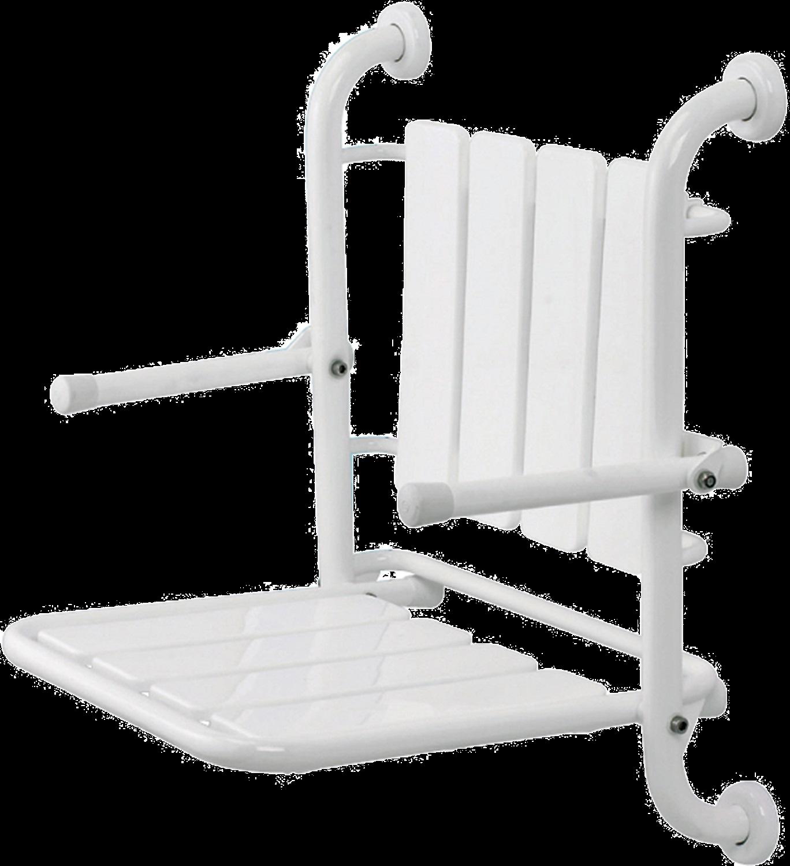 sedile ribaltabile con shcienale e braccioli ribaltabili