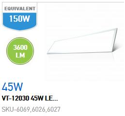 PANNELLO LED 45W 1200x300 LUCE NATURALE