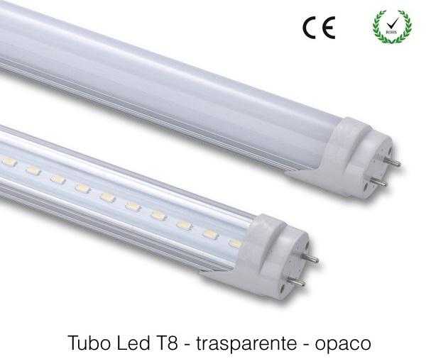 TUBO T8 COMMERCIALE G13 T8 90CM 13W TRASP. o OPACO - 3000 o 4000K