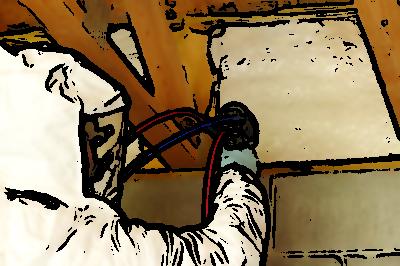 poliuretano a spruzzo mansarda