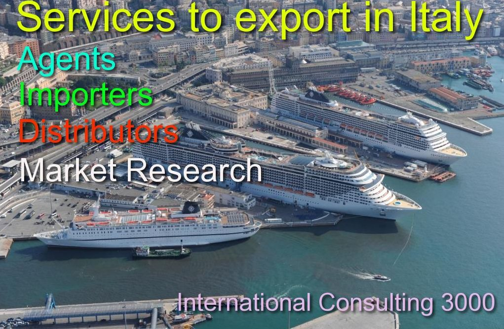Export in Italy find distributors importers agents formalities