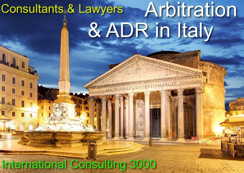 MEDIATION CONCILIATION ADR IN ITALY ARBITRATION