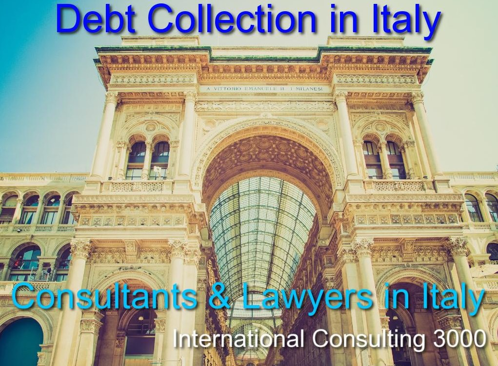 BAD DEBTS RECOVERY IN ITALY LAWYERS