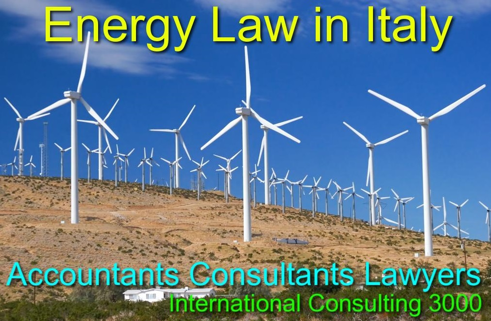 ENERGY LAW IN ITALY AGREEMENTS LAWYERS