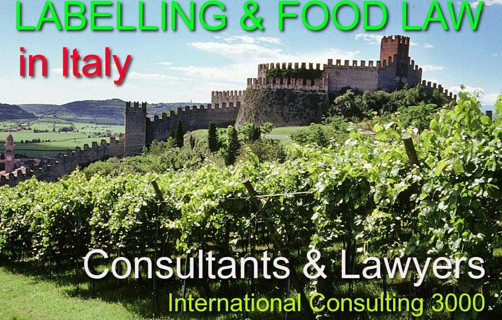FOOD LAW IN ITALY LABELLING RULES IN ITALY LAWYERS
