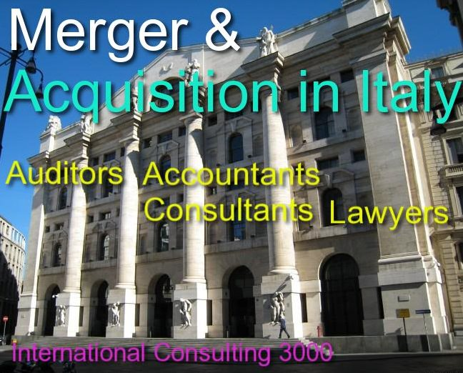 M&A IN ITALY AUDITORS LAWYERS ASSISTANCE