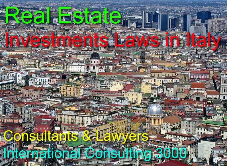 PURCHASE IMMOVABLE PROPERTY IN ITALY LEGAL ASSISTANCE