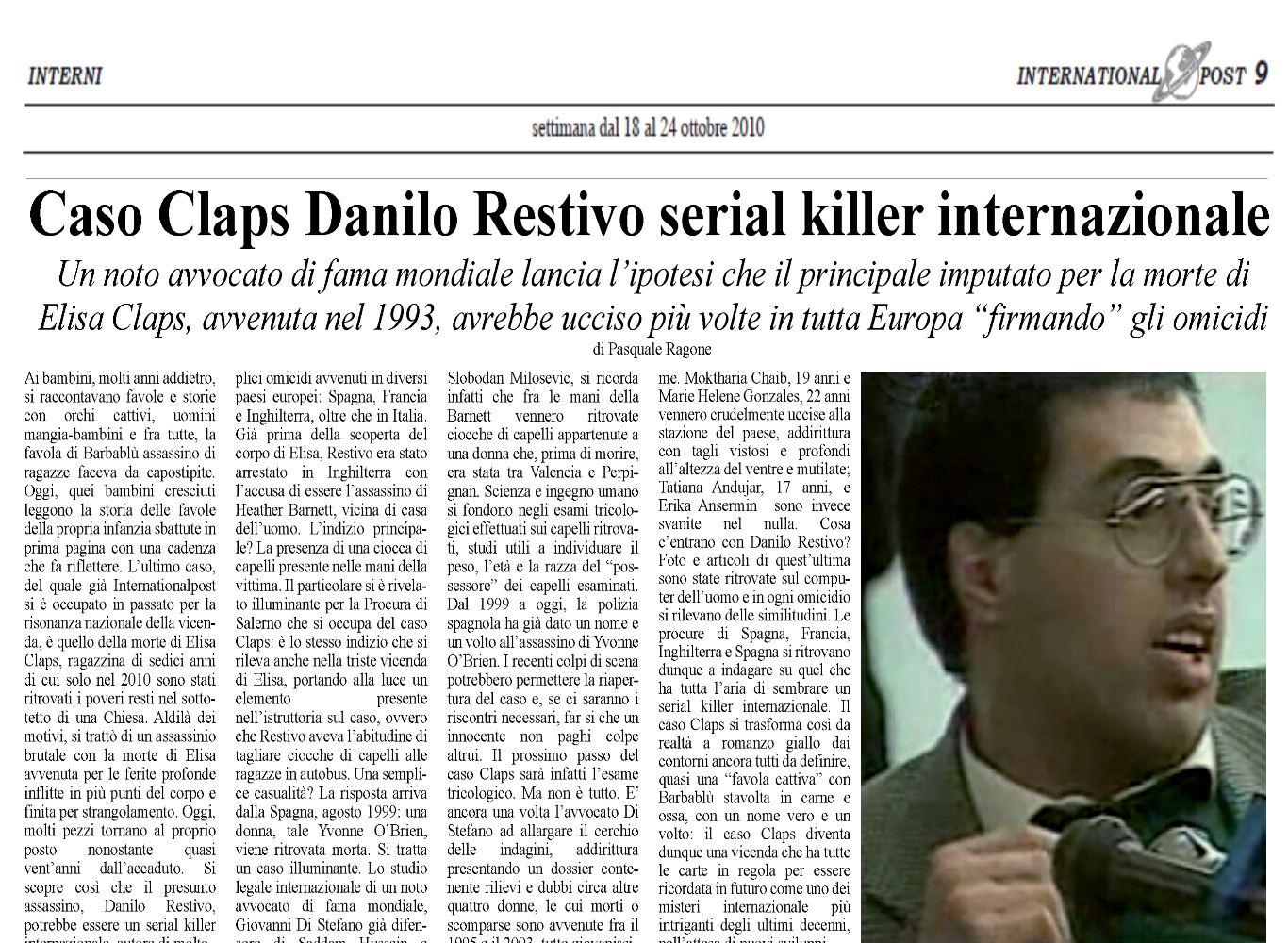 Restivo serial killer internazionale