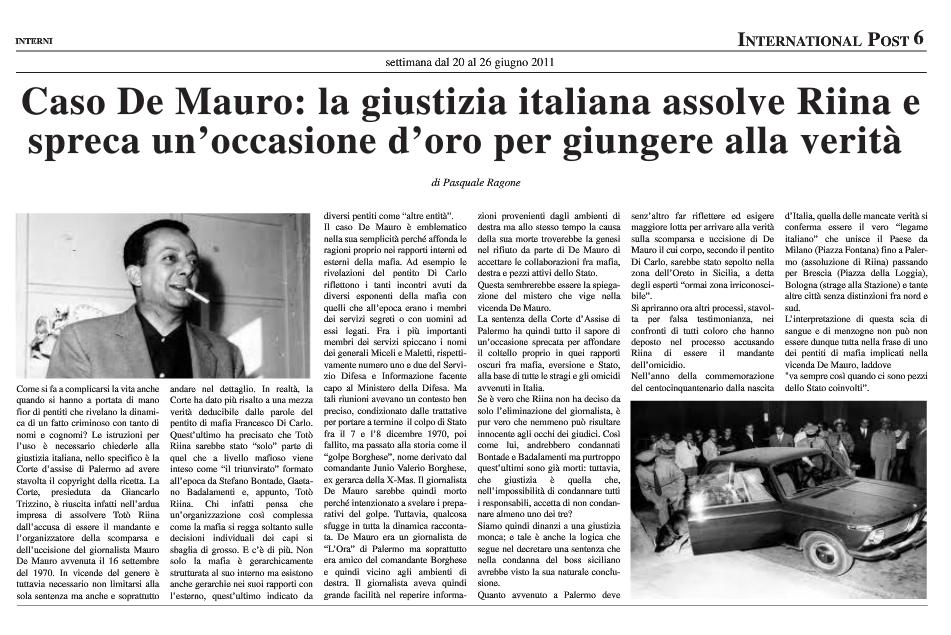 Giustizia italiana assolve Totò Riina
