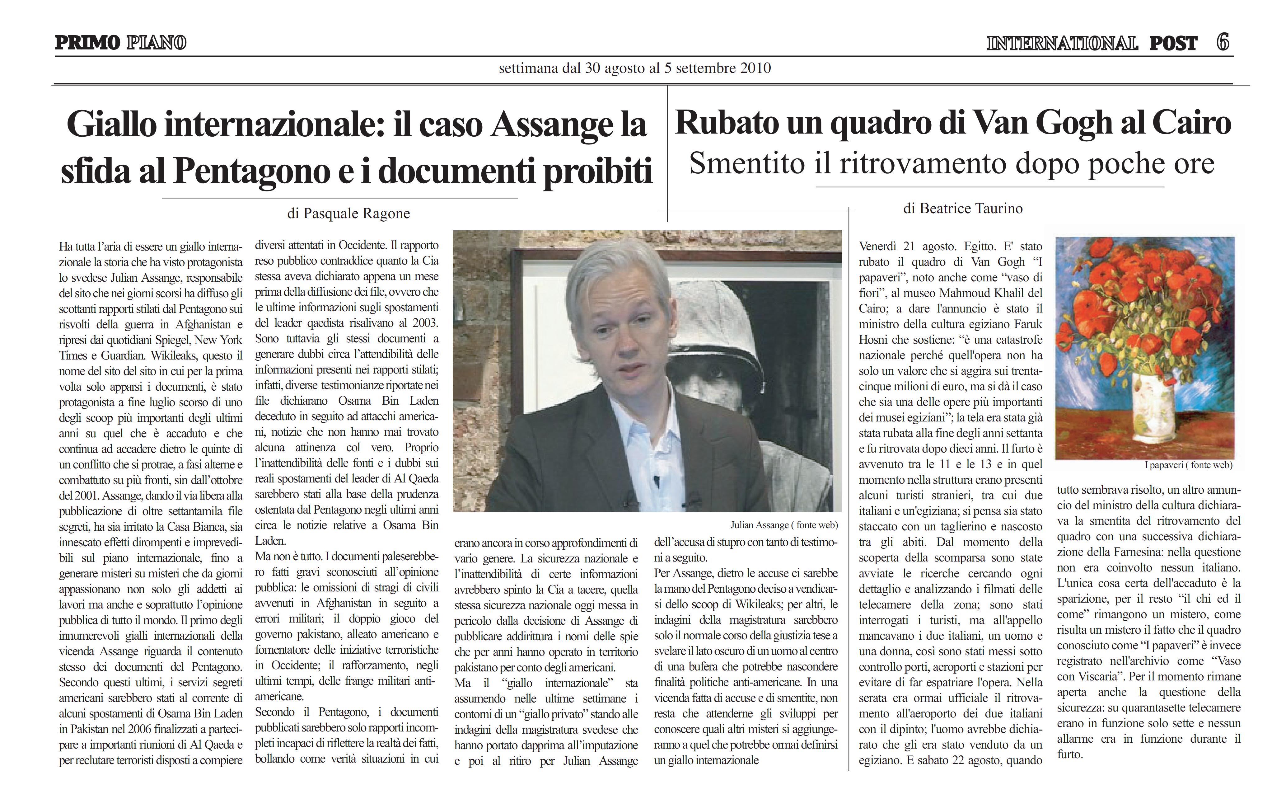 Julian Assange sfida il Pentagono, giallo internazionale